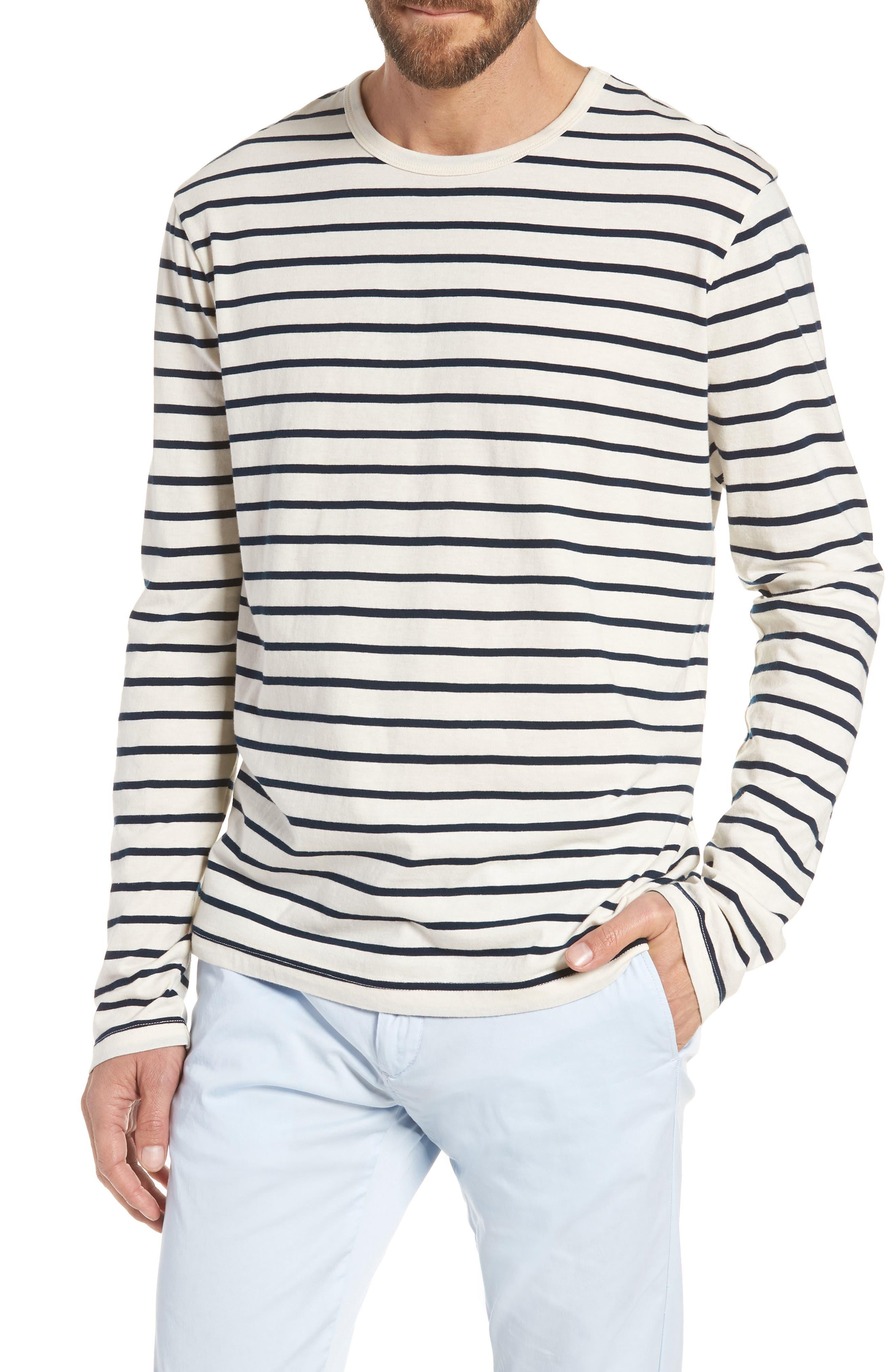 Mercantile Stripe Long Sleeve T-Shirt,                             Main thumbnail 1, color,                             100