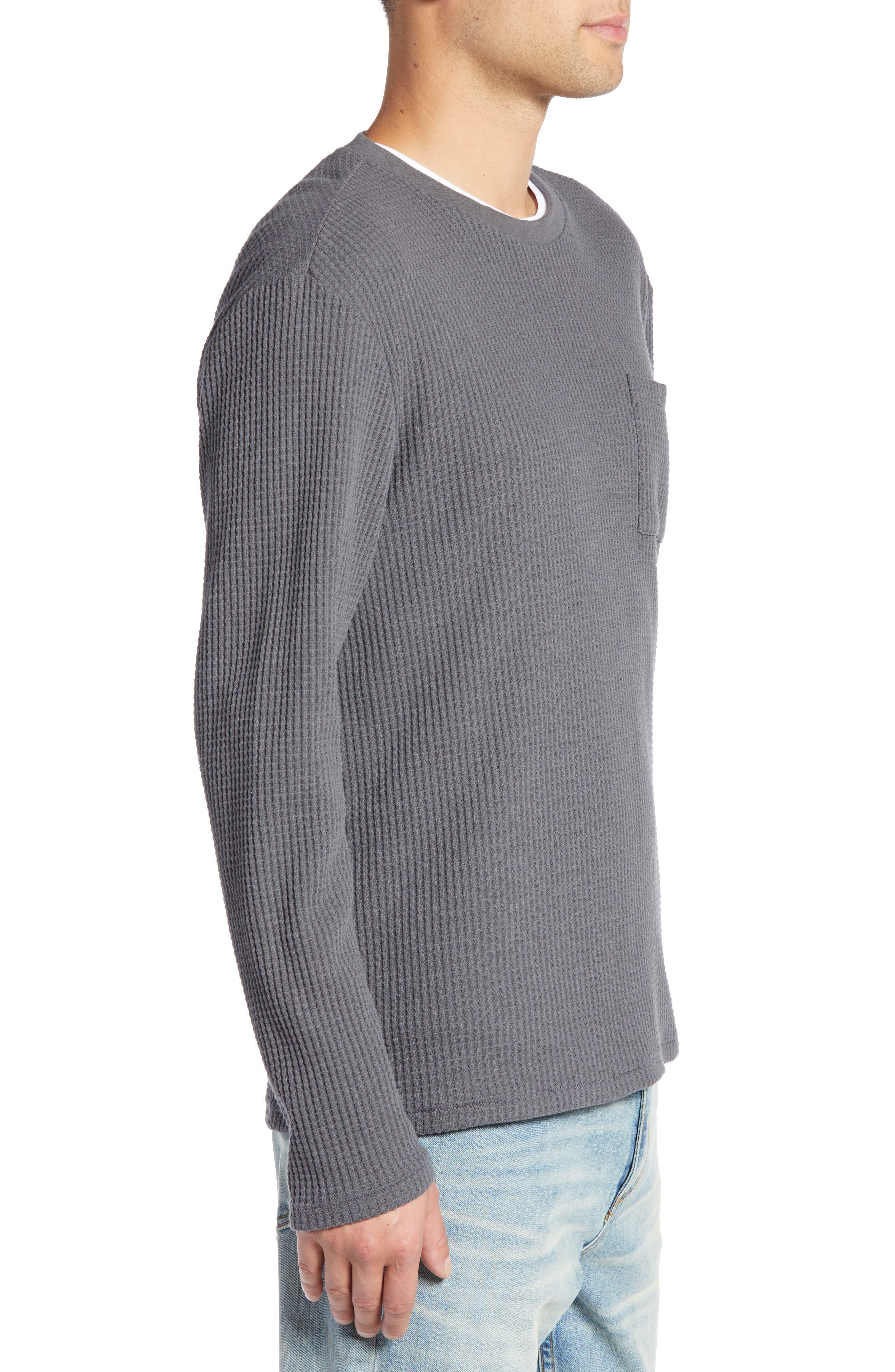 Regular Fit Thermal T-Shirt,                             Alternate thumbnail 3, color,                             GREY TORNADO