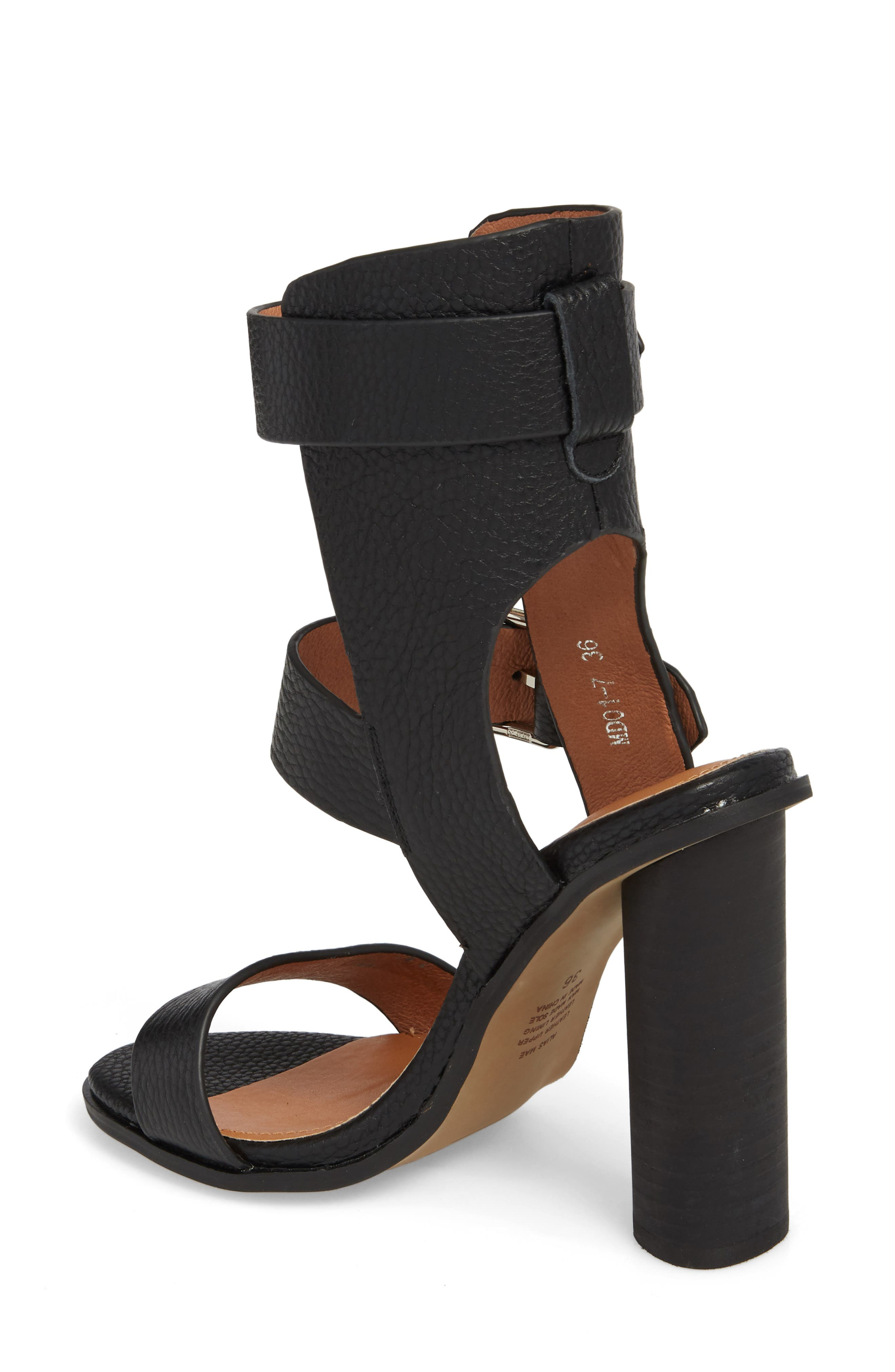Abeba Block Heel Sandal,                             Alternate thumbnail 2, color,                             BLACK LEATHER