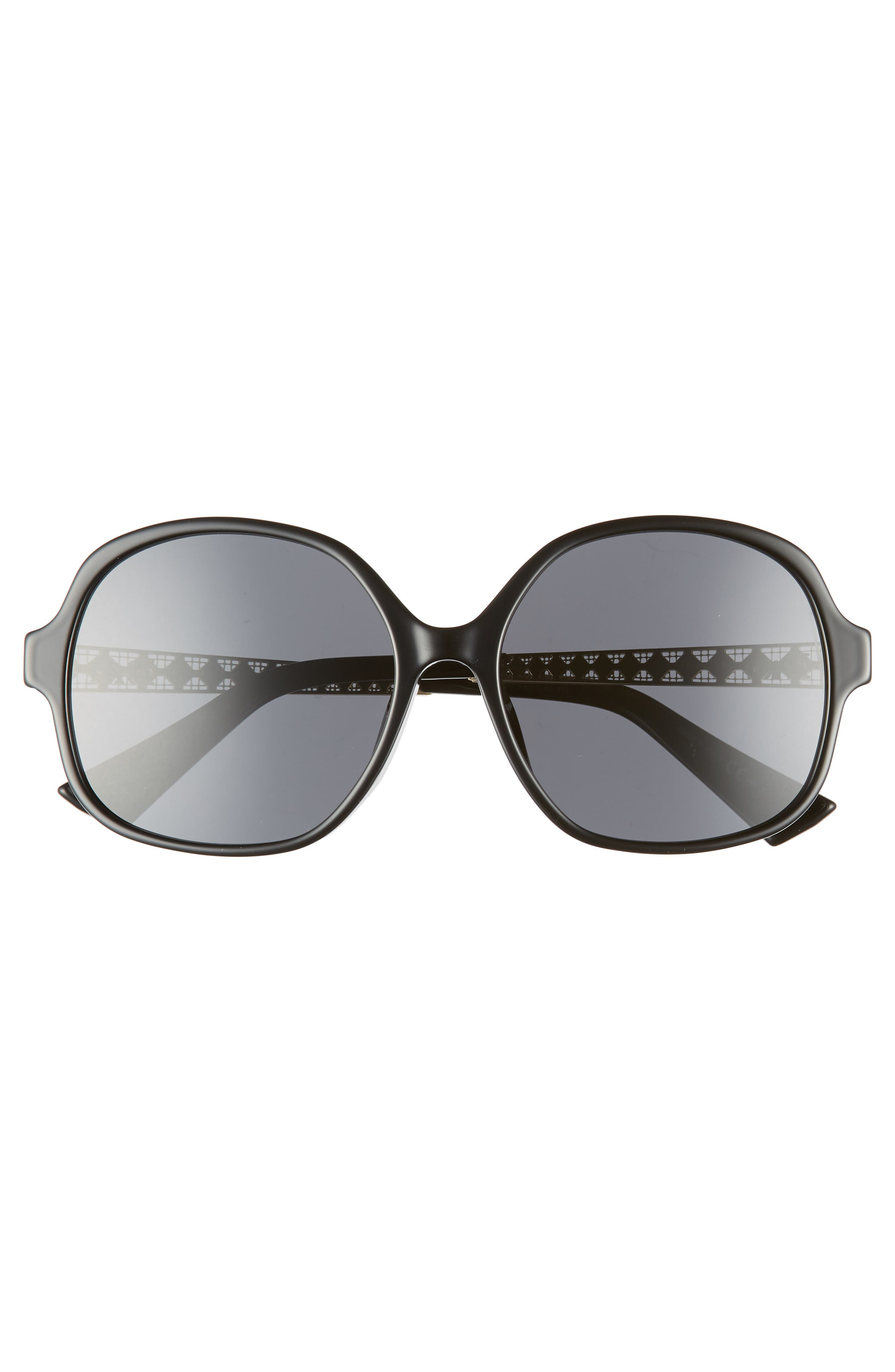 DIOR,                             Diorama 58mm Special Fit Round Sunglasses,                             Alternate thumbnail 3, color,                             BLACK