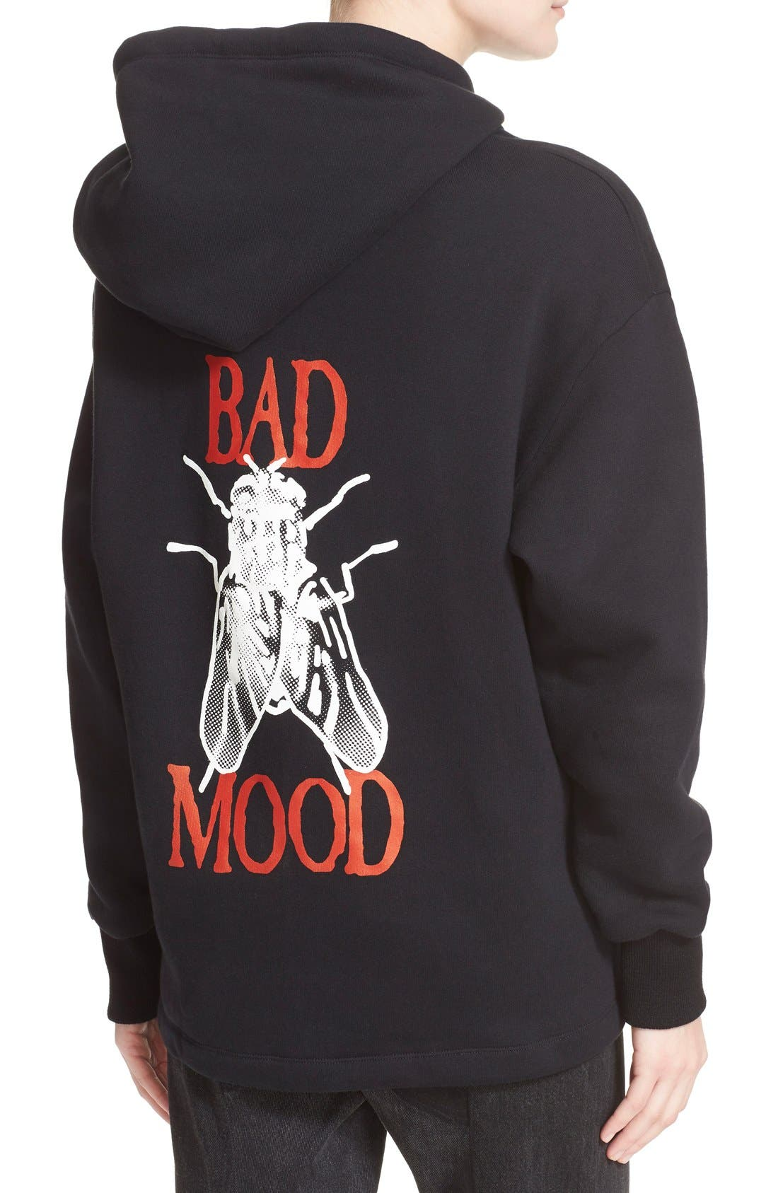 'Bad Mood' Hoodie,                             Alternate thumbnail 2, color,                             001