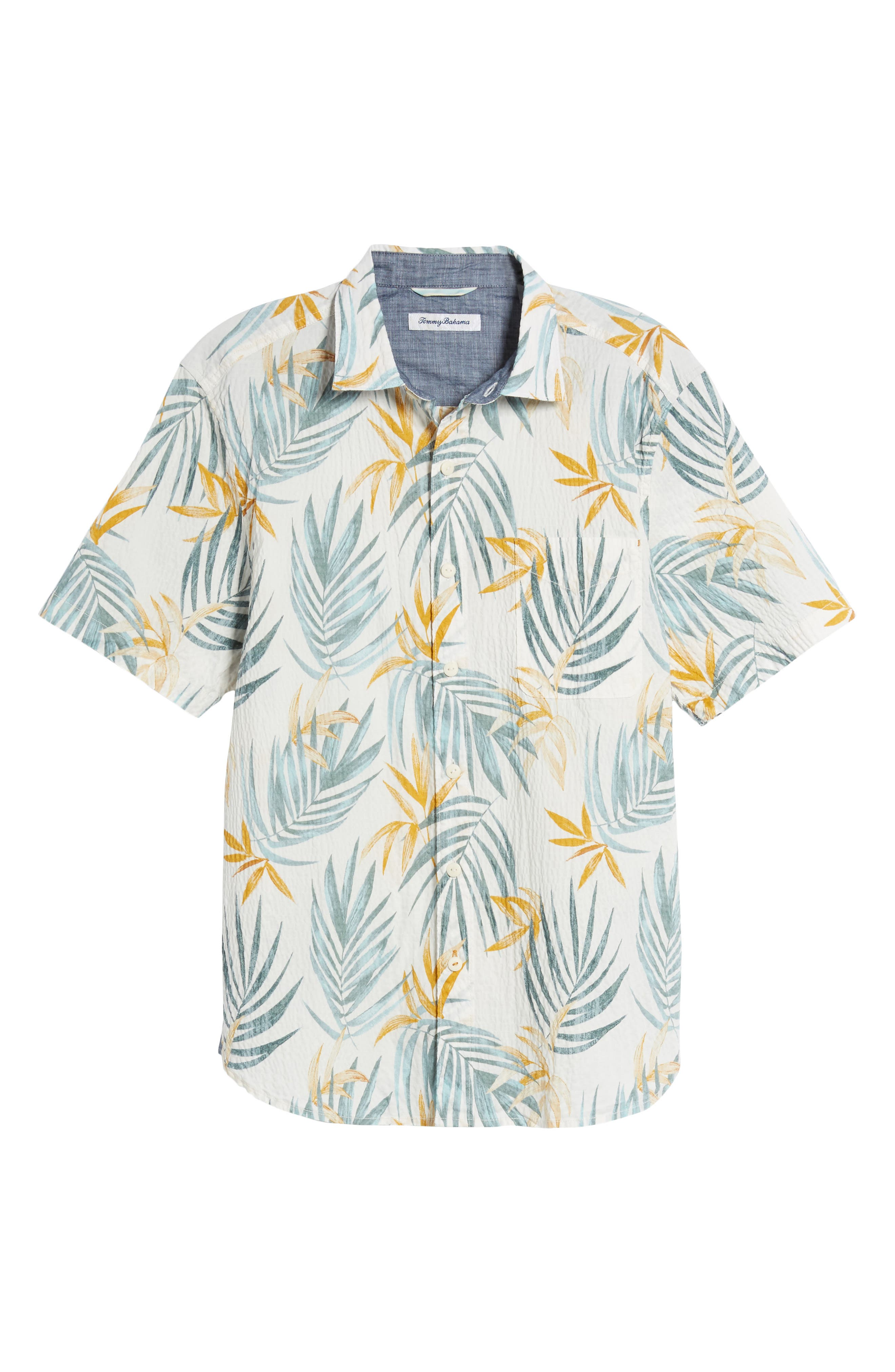 Fiesta Fronds Seersucker Sport Shirt,                             Alternate thumbnail 6, color,                             100