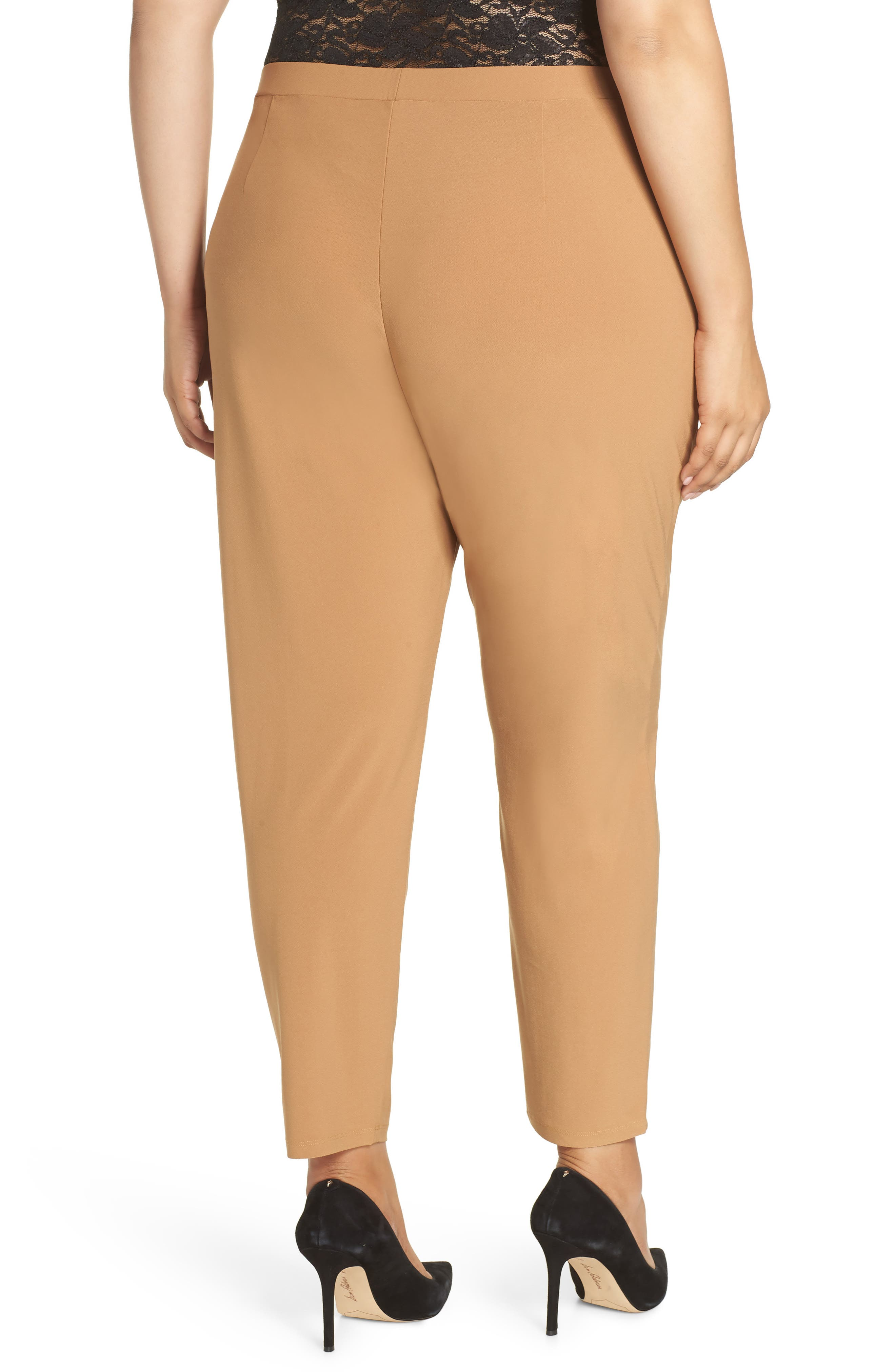 High Rise Pleated Pants,                             Alternate thumbnail 2, color,                             TAN DALE