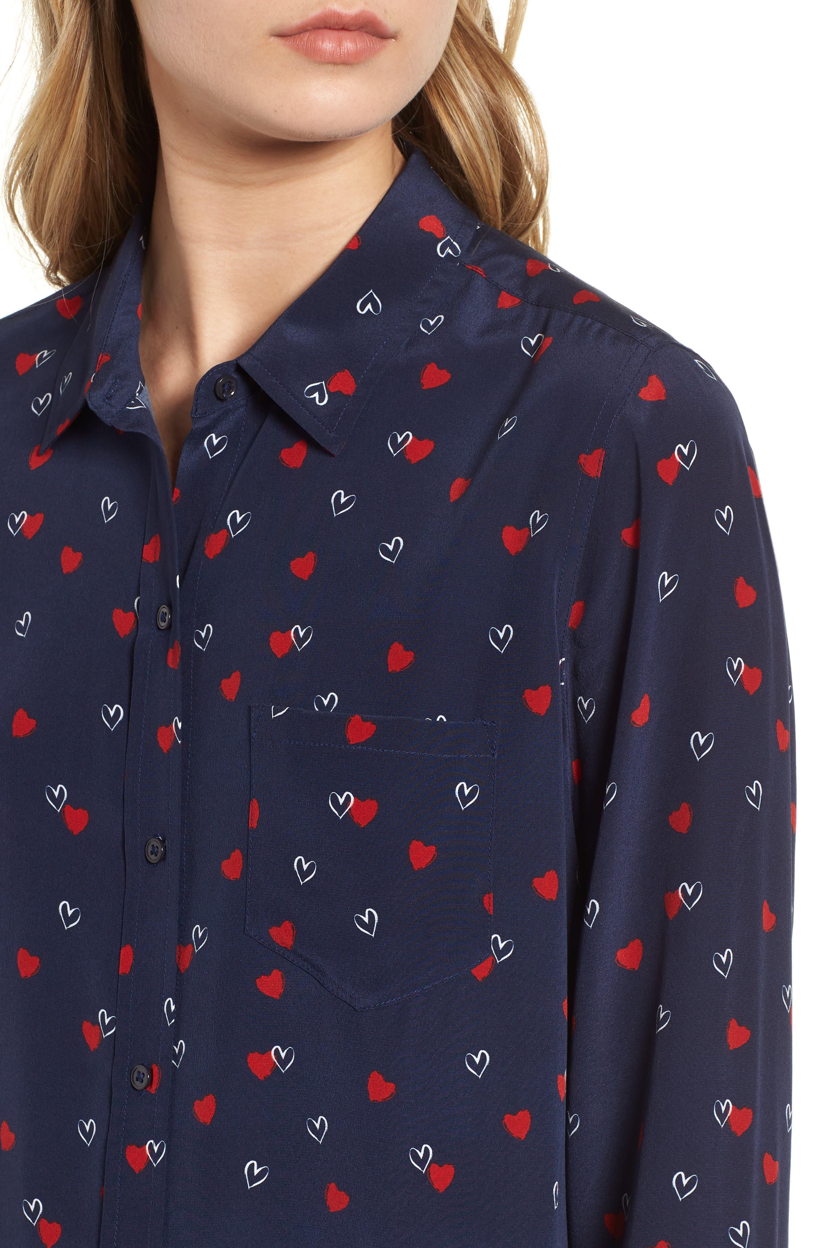 Kate Print Shirt,                             Alternate thumbnail 63, color,