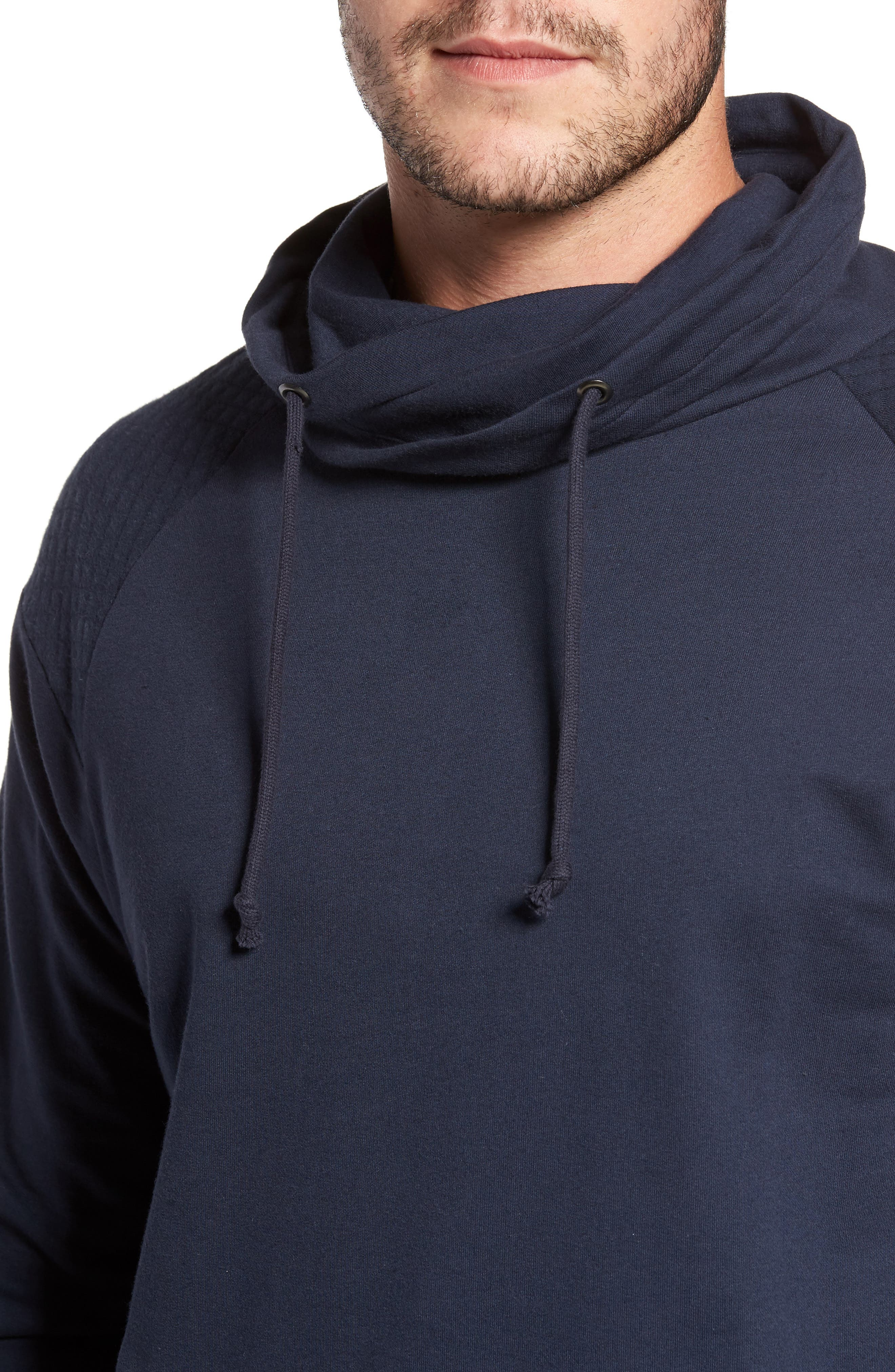 Quilted Funnel Neck Pullover,                             Alternate thumbnail 8, color,