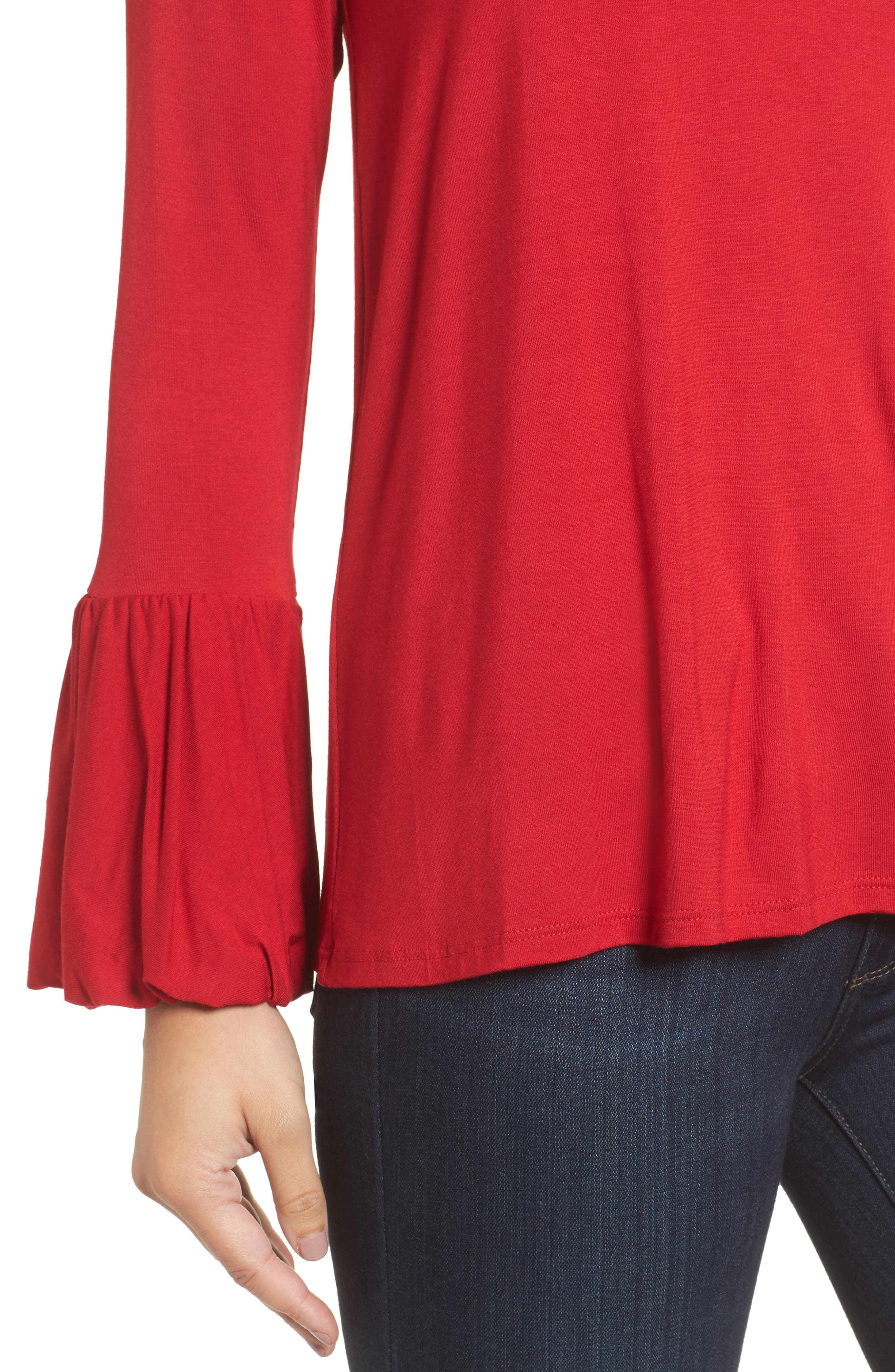 Bell Sleeve Top,                             Alternate thumbnail 18, color,