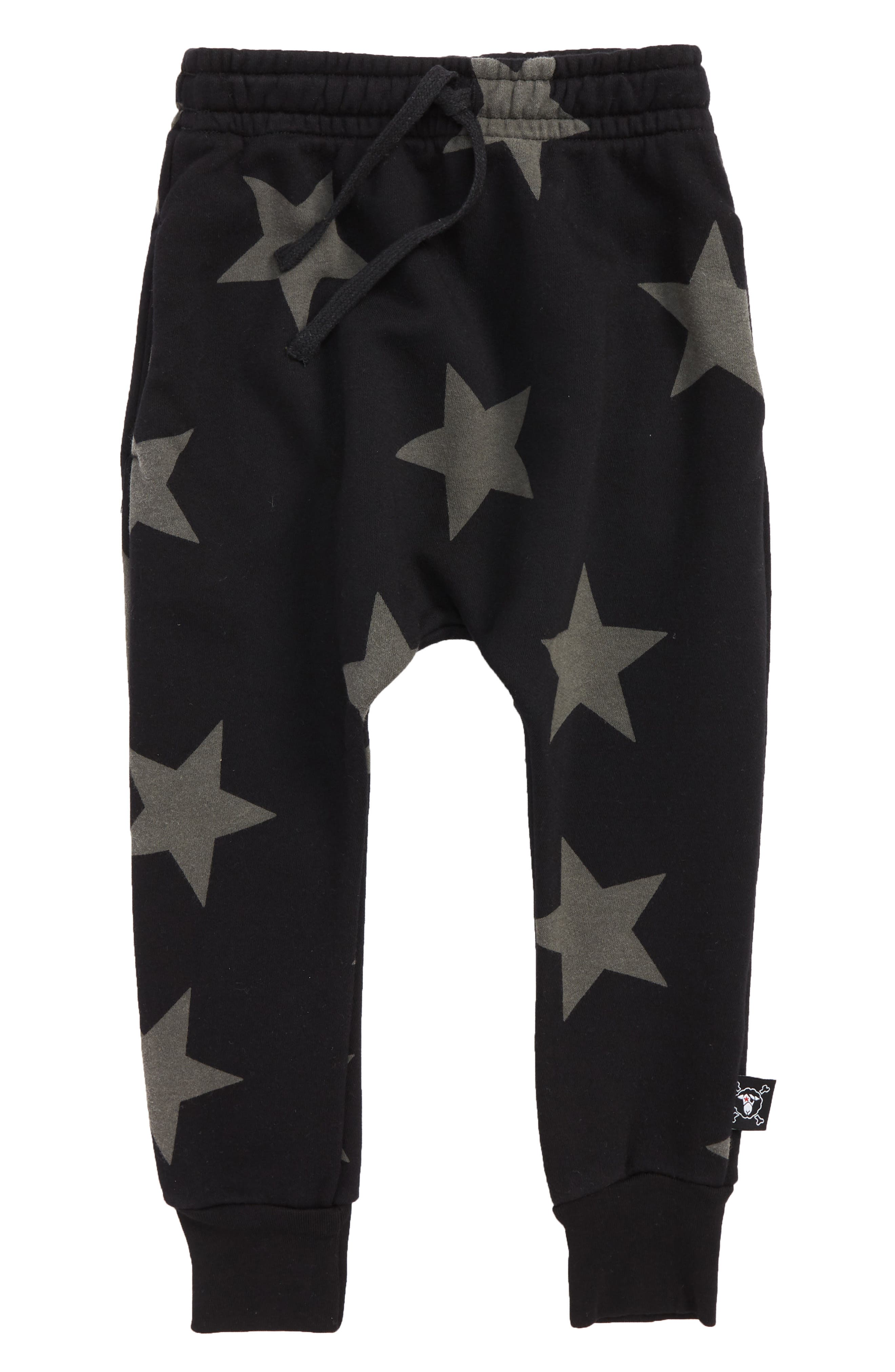 Star Baggy Pants,                         Main,                         color, BLACK
