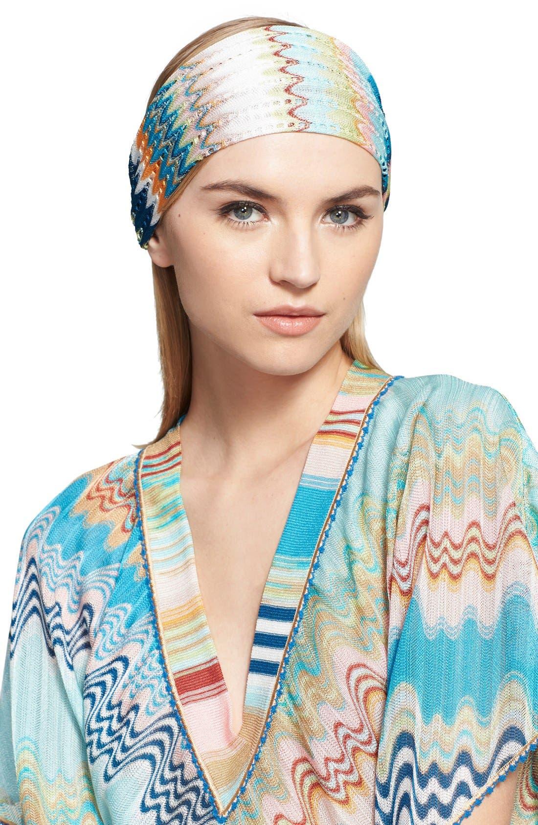 Zigzag Knit Headband, Main, color, 400