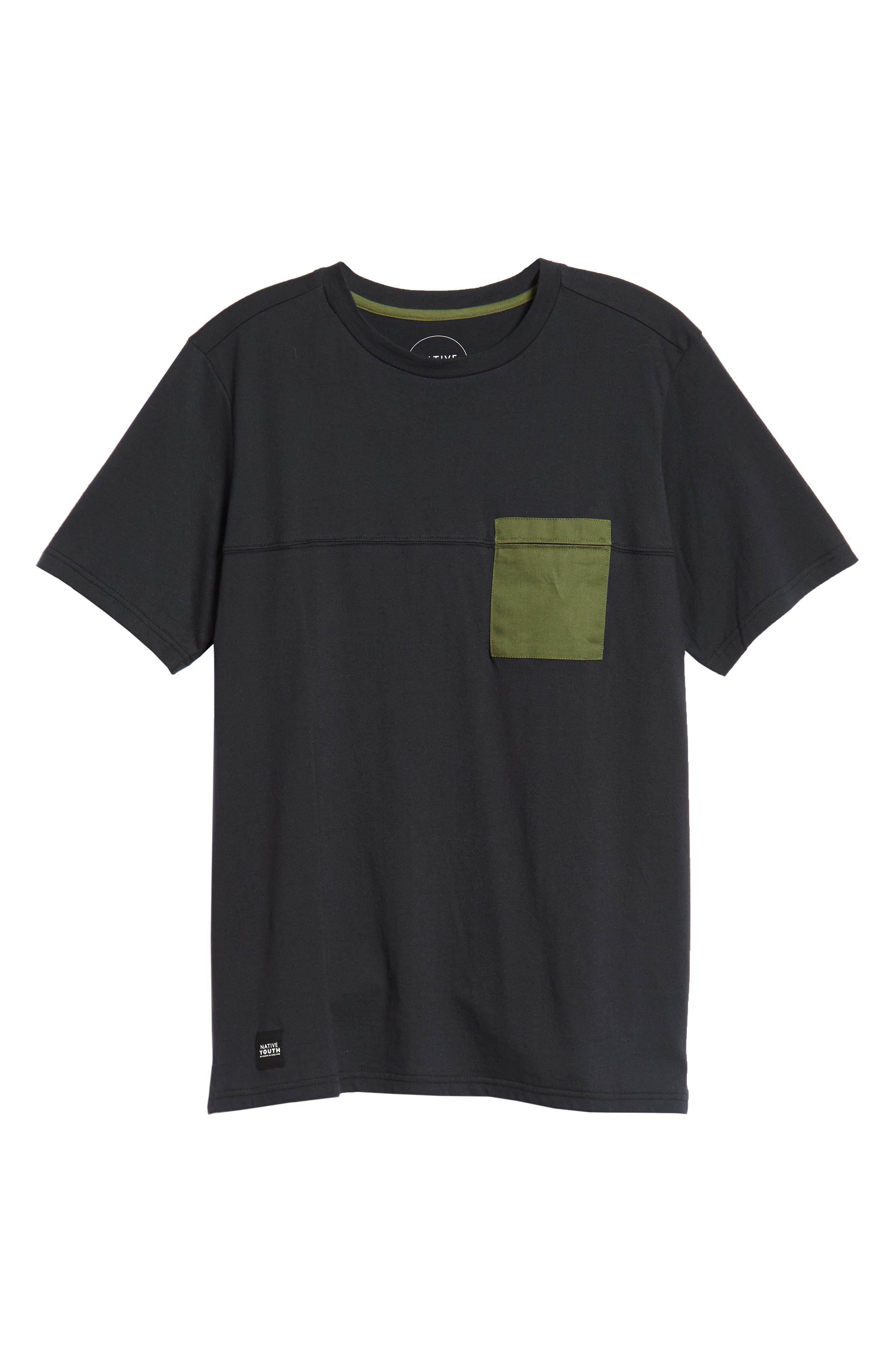 Seamed Pocket T-Shirt,                             Alternate thumbnail 6, color,                             NAVY