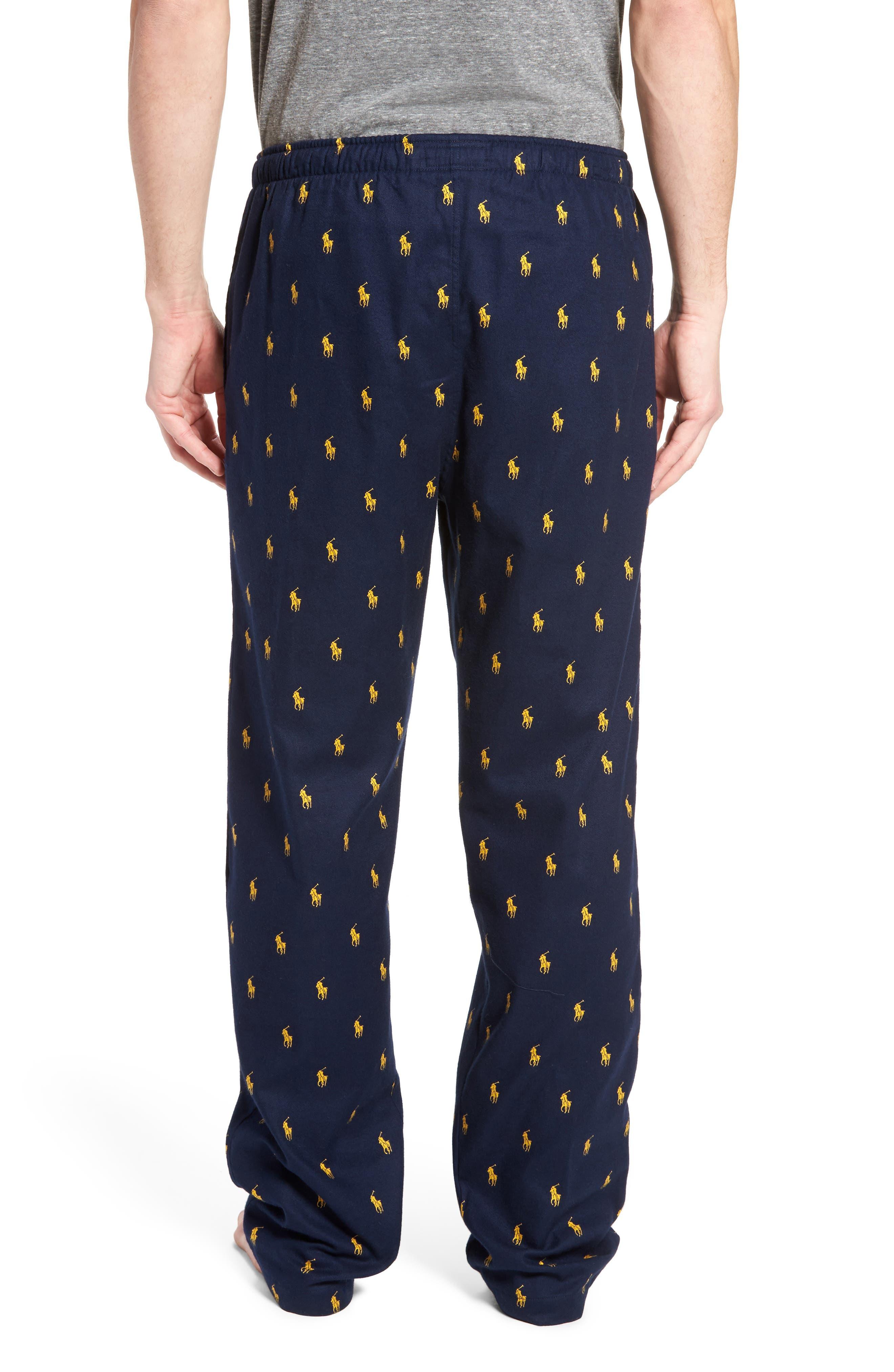 Brushed Flannel Pajama Pants,                             Alternate thumbnail 5, color,