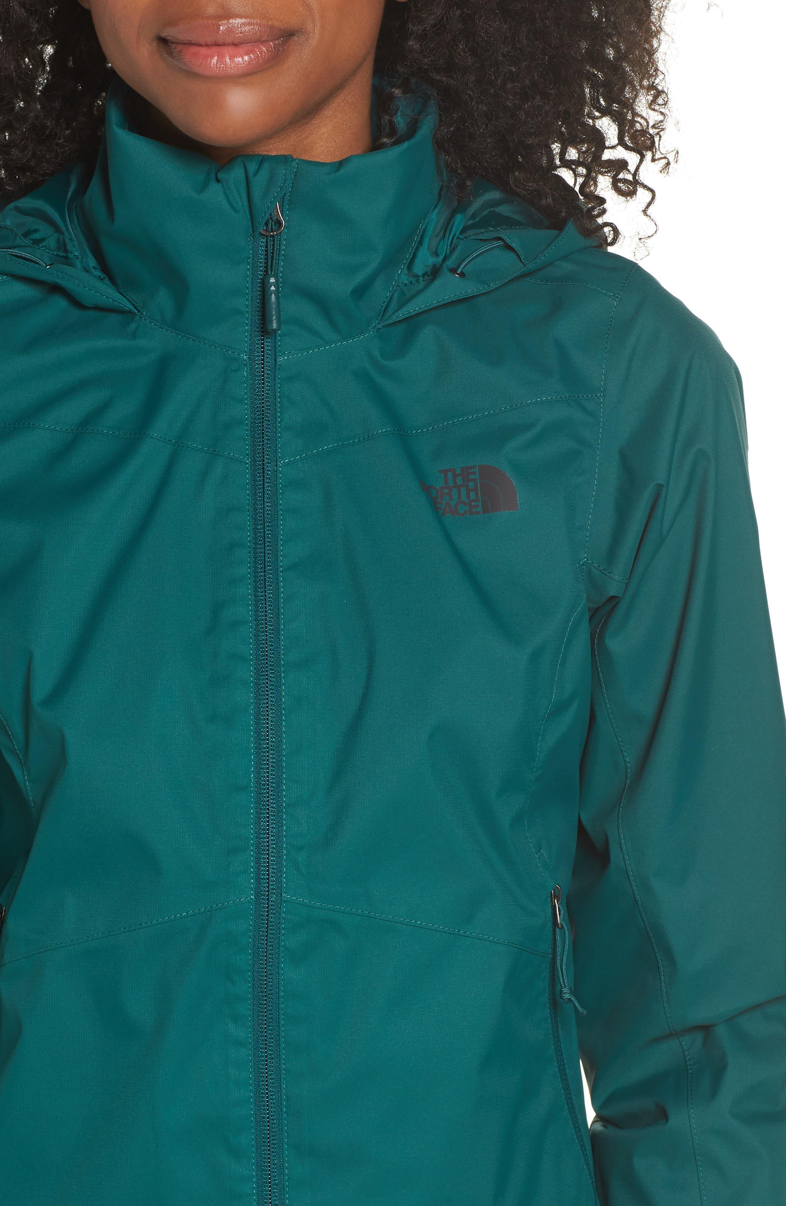 Resolve Plus Waterproof Jacket,                             Alternate thumbnail 4, color,                             BOTANICAL GREEN