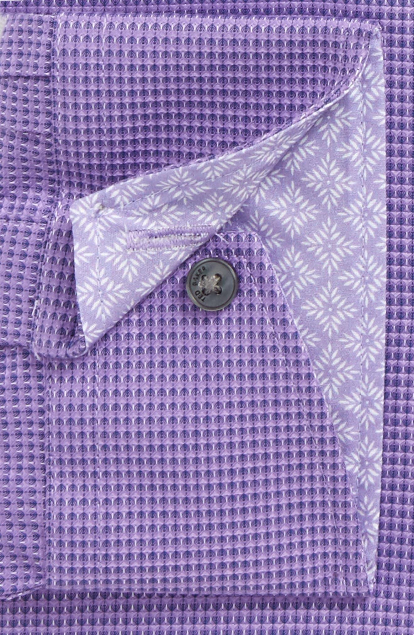Endurance Dudders Trim Fit Dress Shirt,                             Alternate thumbnail 2, color,                             PURPLE