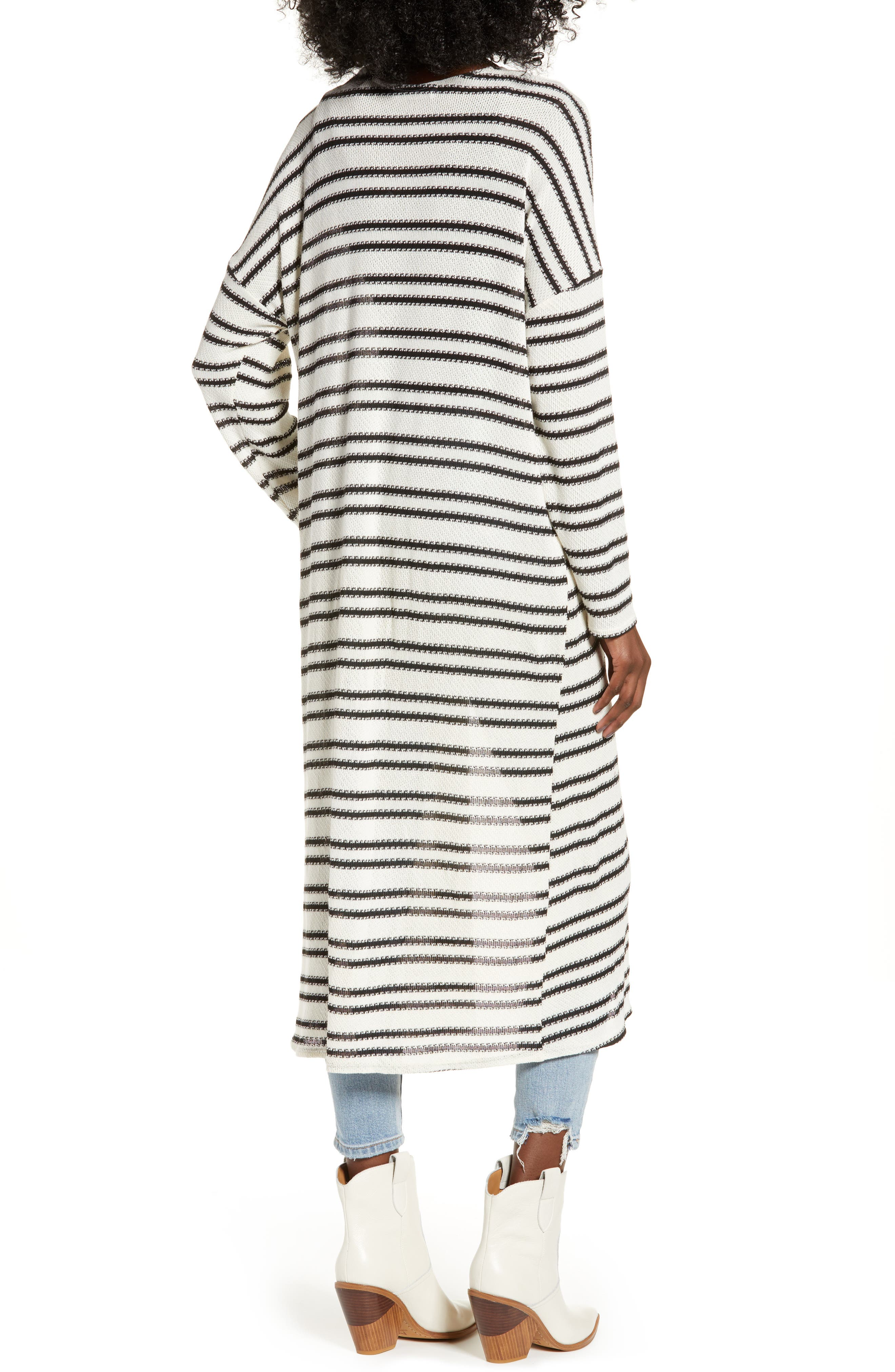 ALL IN FAVOR,                             Stripe Longline Cardigan,                             Alternate thumbnail 2, color,                             900