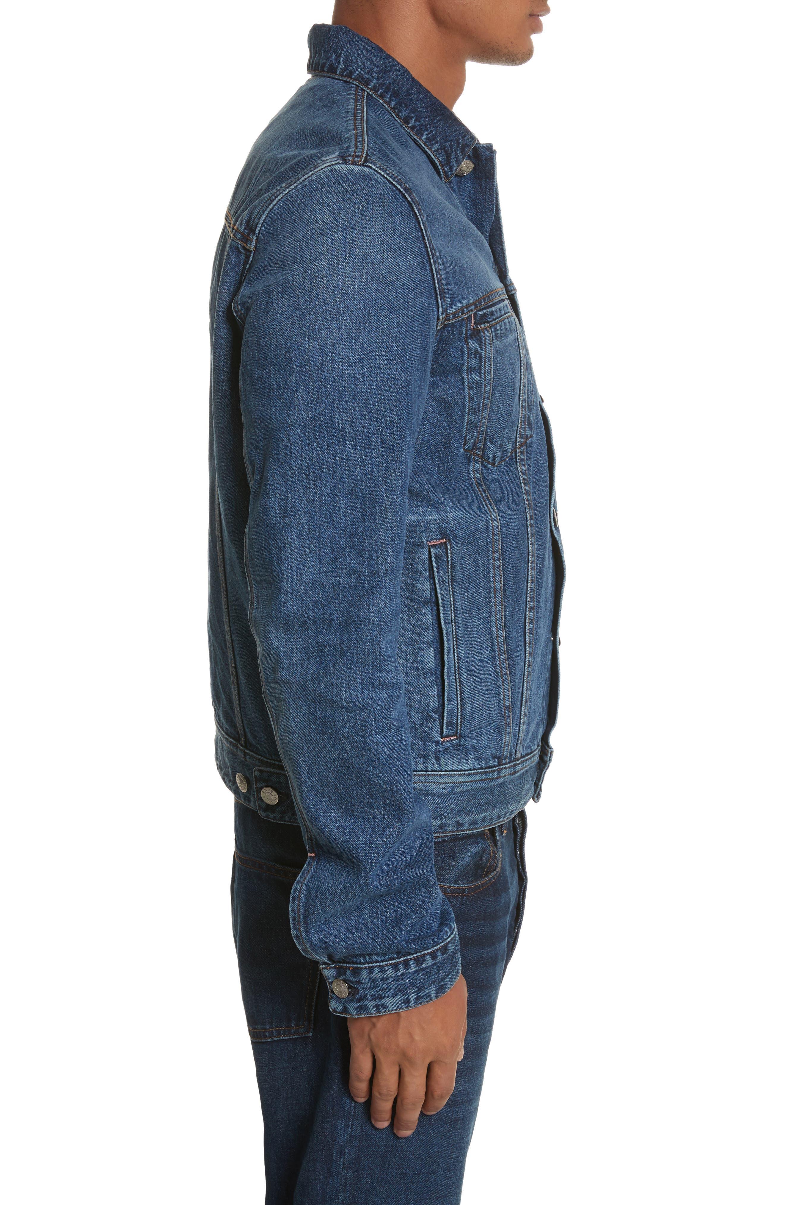 Denim Jacket,                             Alternate thumbnail 3, color,                             MID BLUE