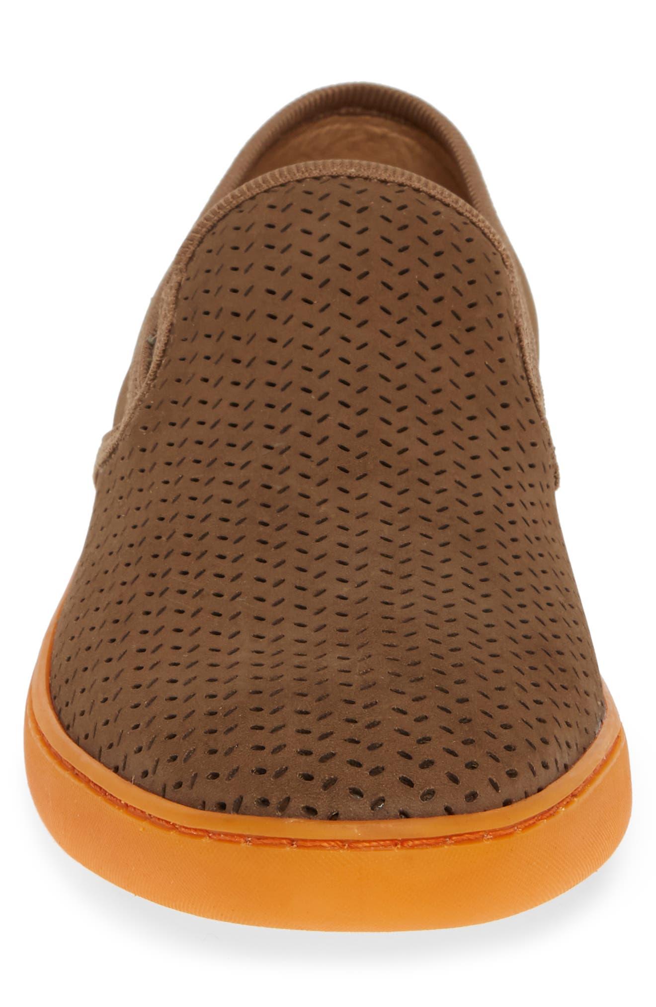 Malibu Perforated Loafer,                             Alternate thumbnail 4, color,                             SAND NUBUCK