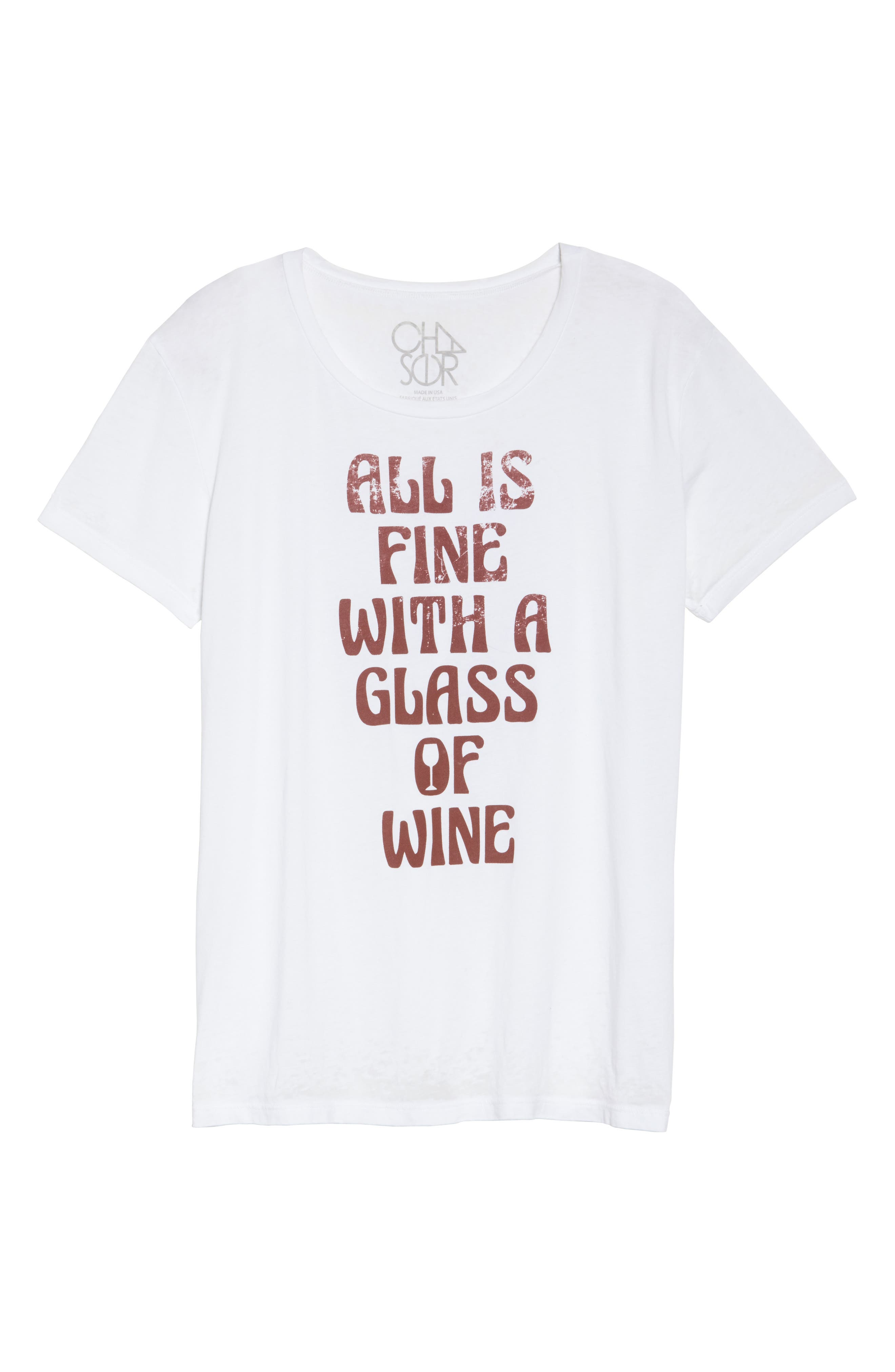 All is Fine Vintage Jersey Tee,                             Alternate thumbnail 6, color,                             100