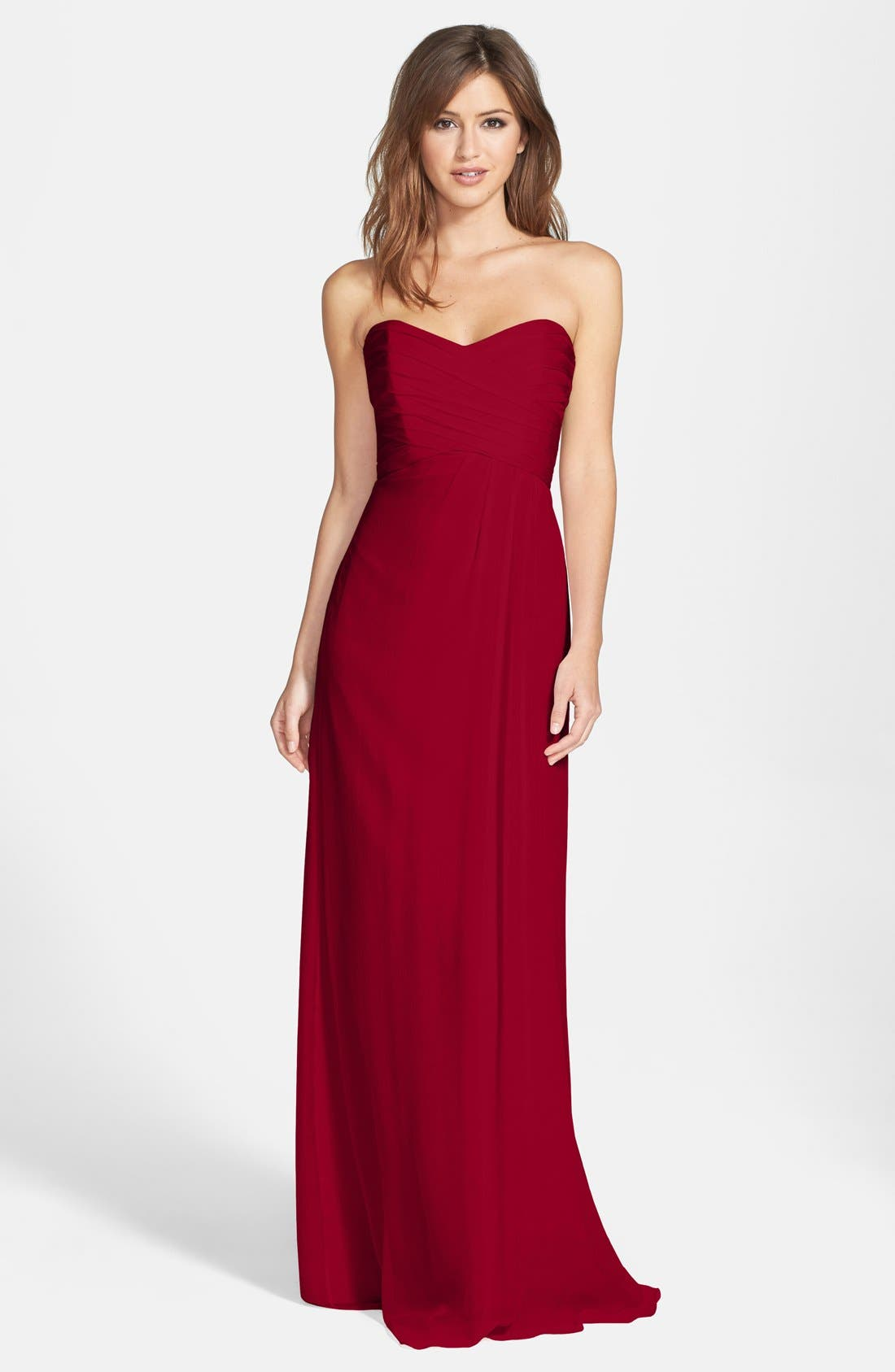 Strapless Crinkle Chiffon Gown,                             Main thumbnail 17, color,