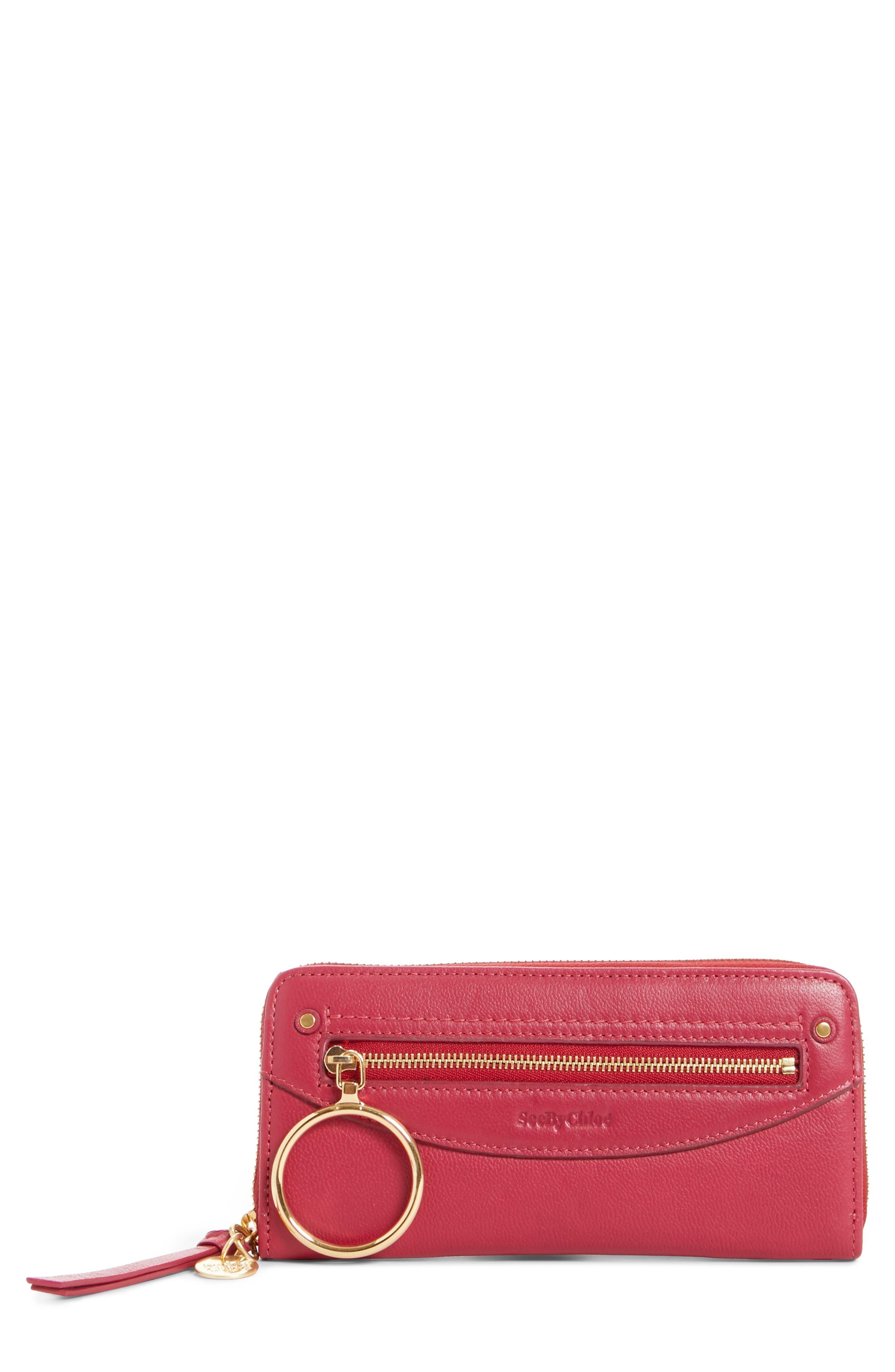 Mino Zip Around Leather Wallet,                         Main,                         color, 650