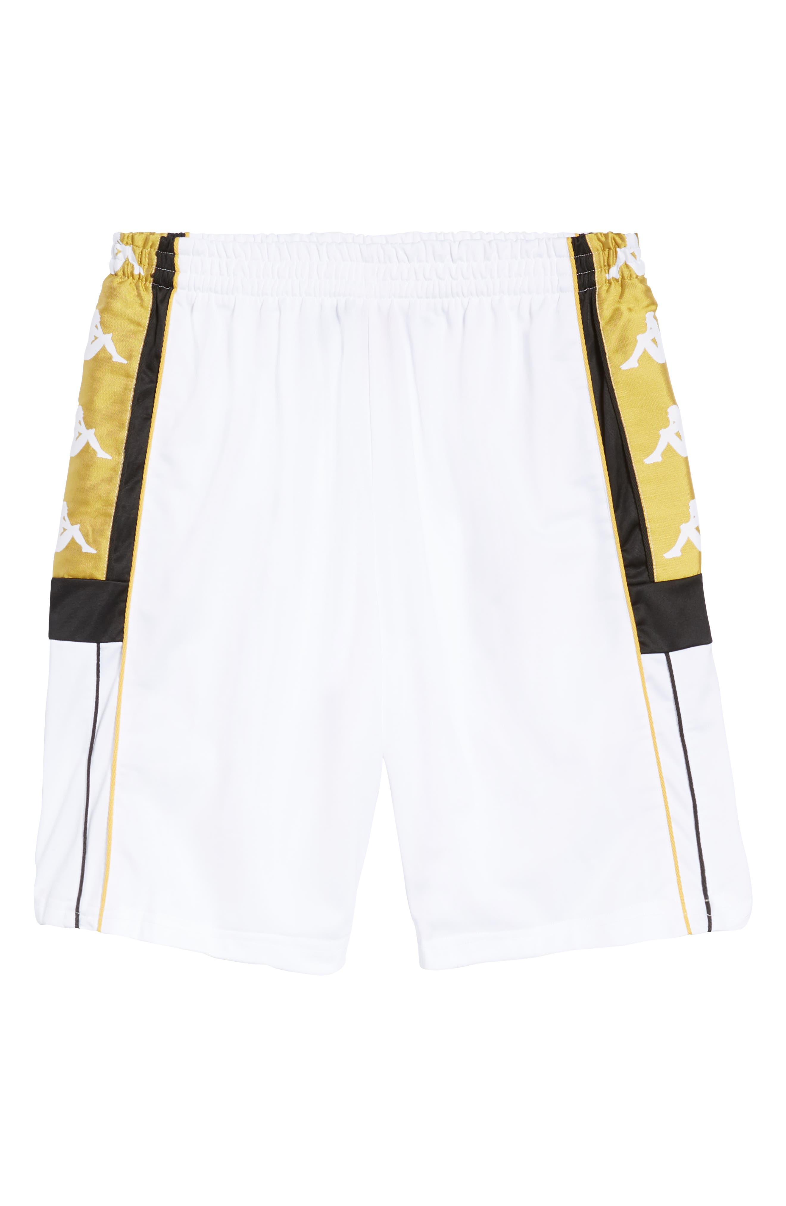 Active Banded Track Pants,                             Alternate thumbnail 6, color,                             BLACK/ GOLD