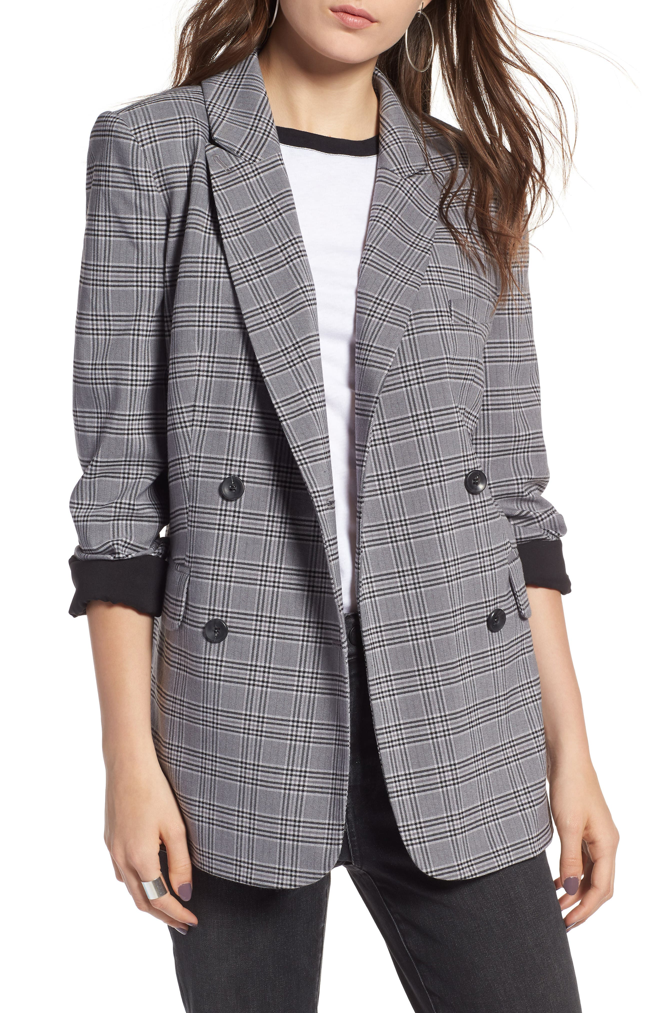 Plaid Oversized Blazer by Treasure & Bond