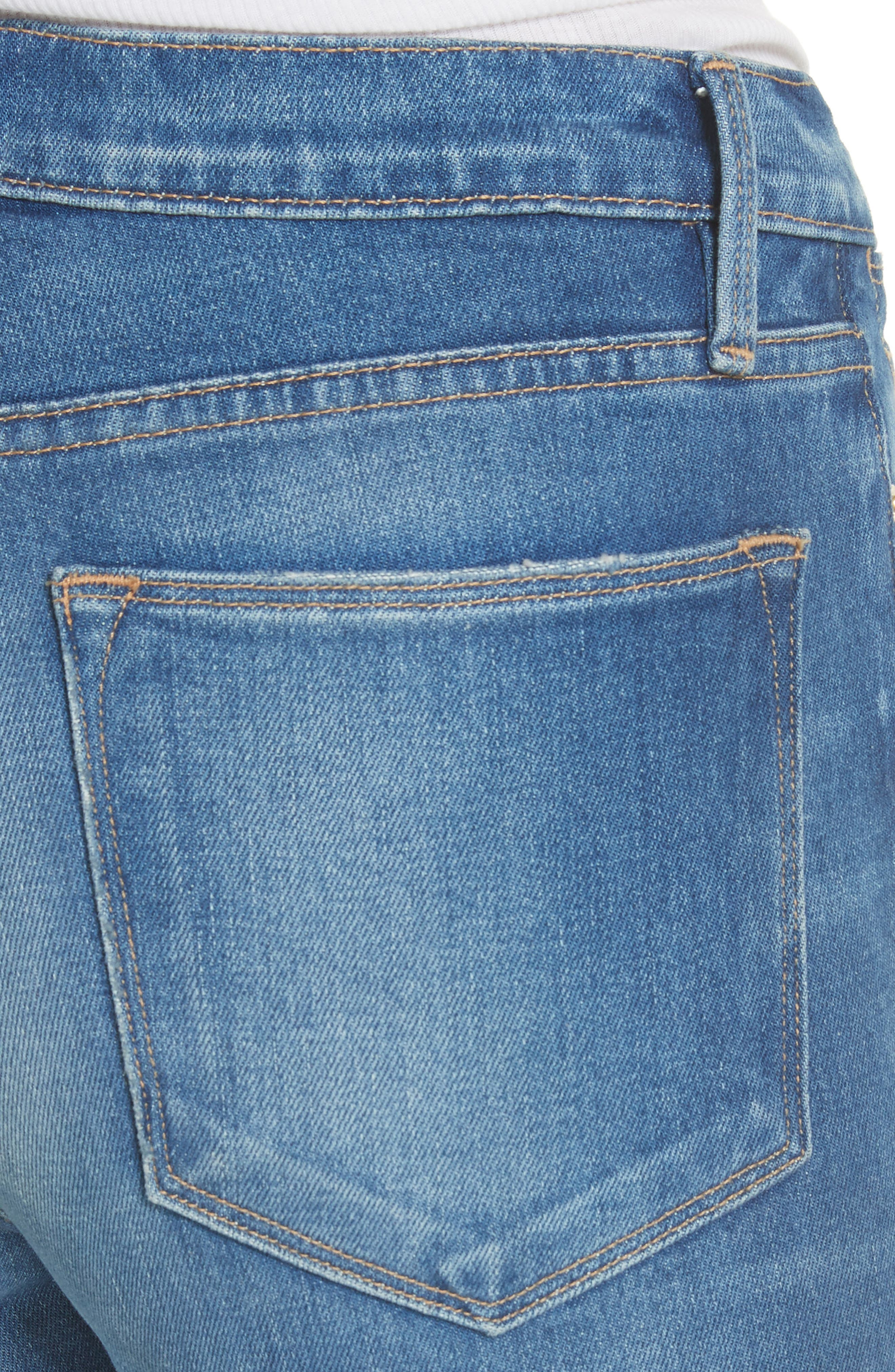 Le High Flare Jeans,                             Alternate thumbnail 4, color,                             CLAPPS
