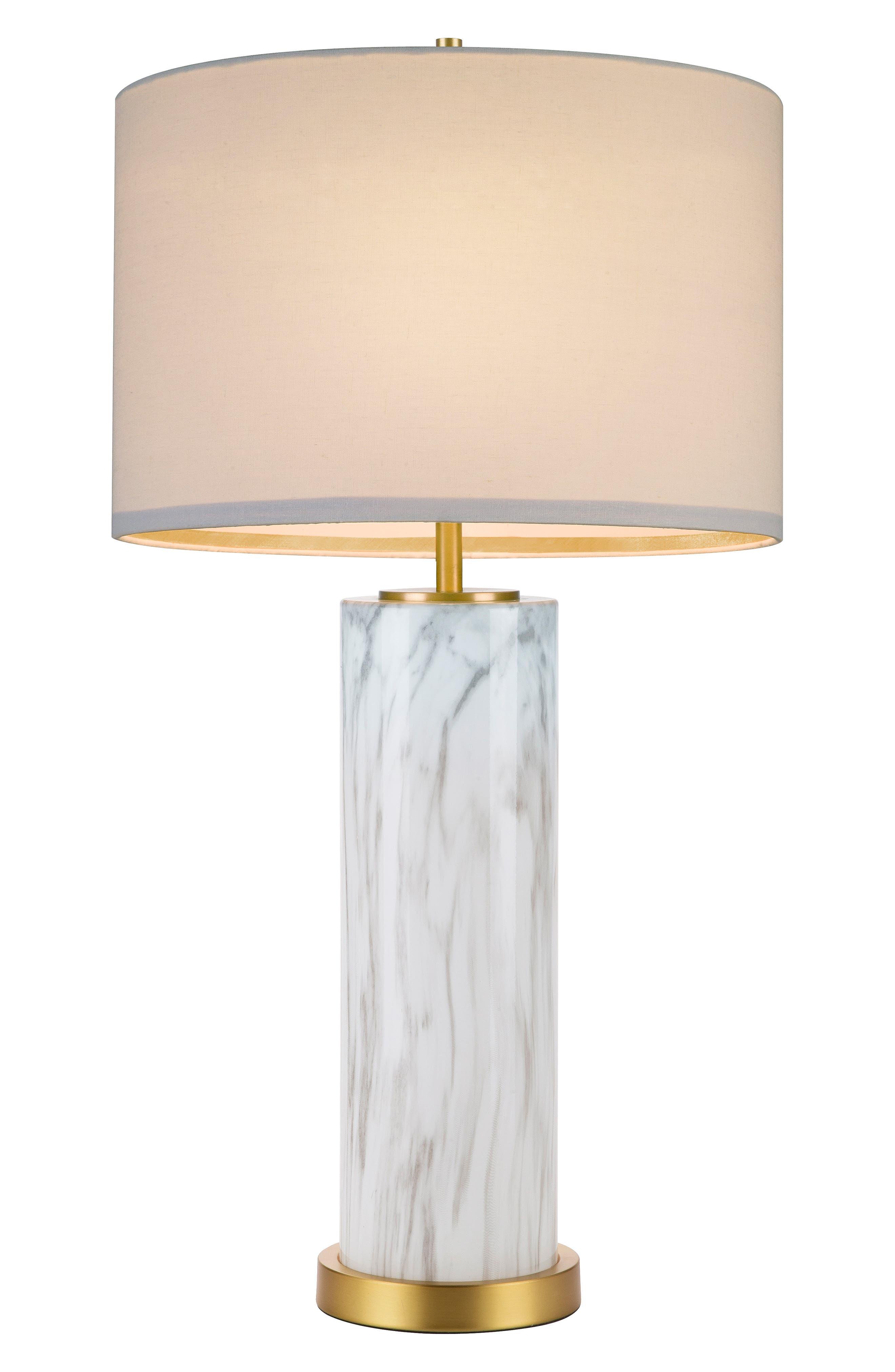 Marble Column Table Lamp,                             Main thumbnail 1, color,