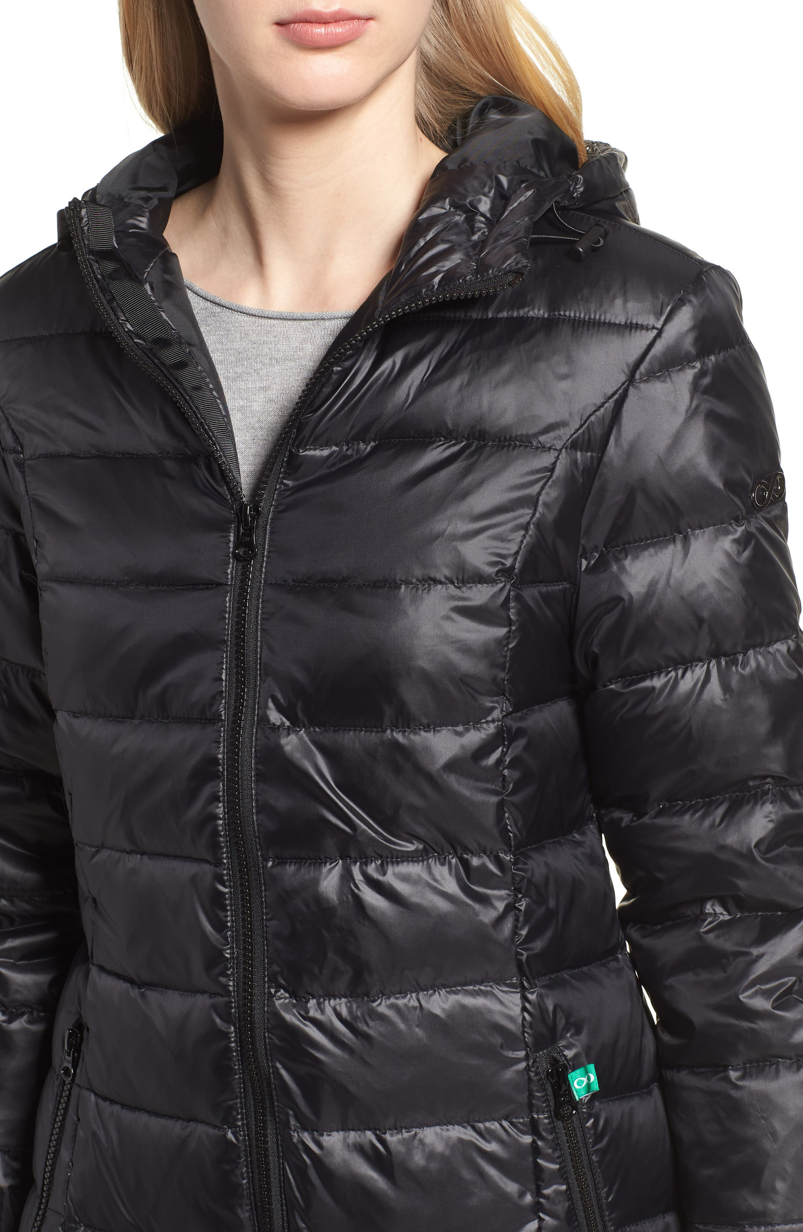 Quilted 3-in-1 Maternity/Nursing Parka,                             Alternate thumbnail 5, color,                             BLACK