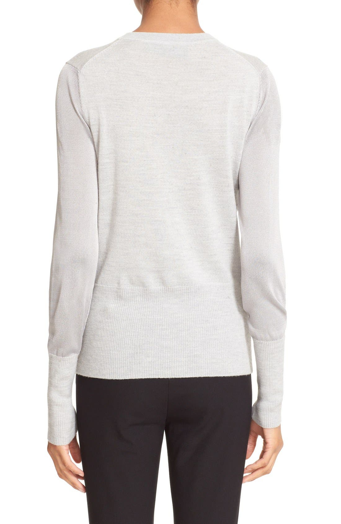RAG & BONE,                             'Marissa' Merino Wool Crewneck Sweater,                             Alternate thumbnail 4, color,                             020