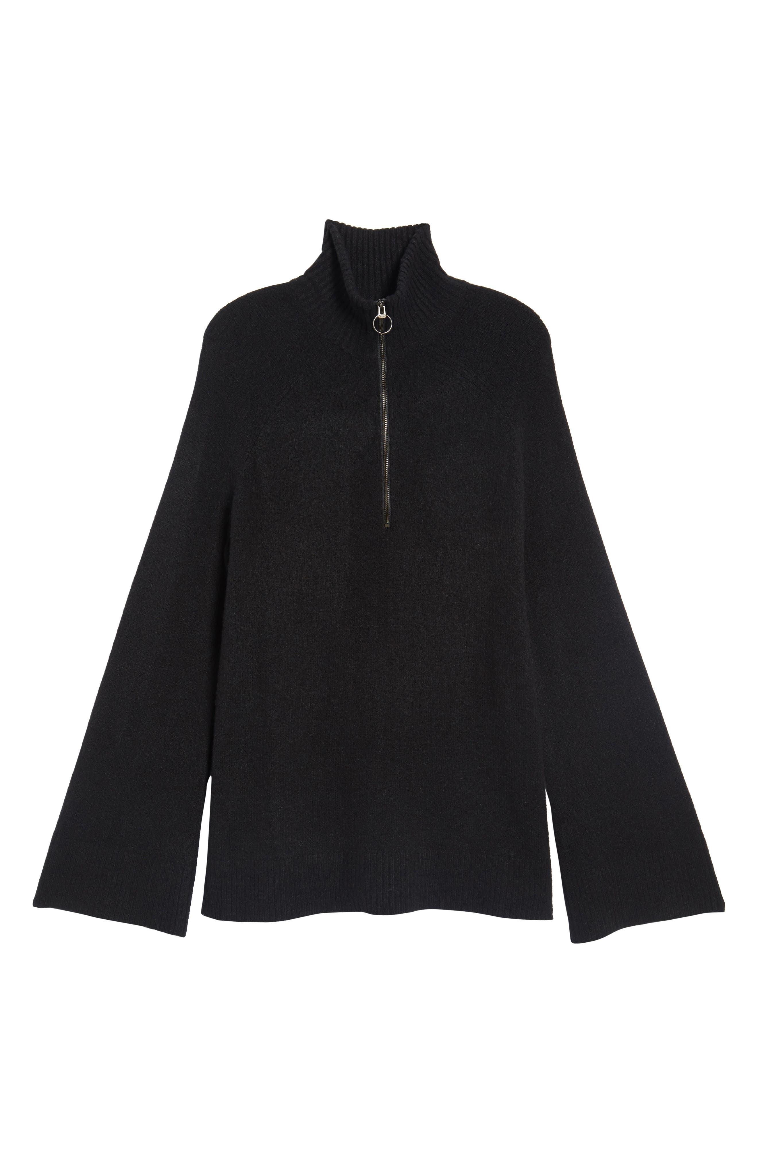 Half Zip Pullover,                             Alternate thumbnail 6, color,                             001