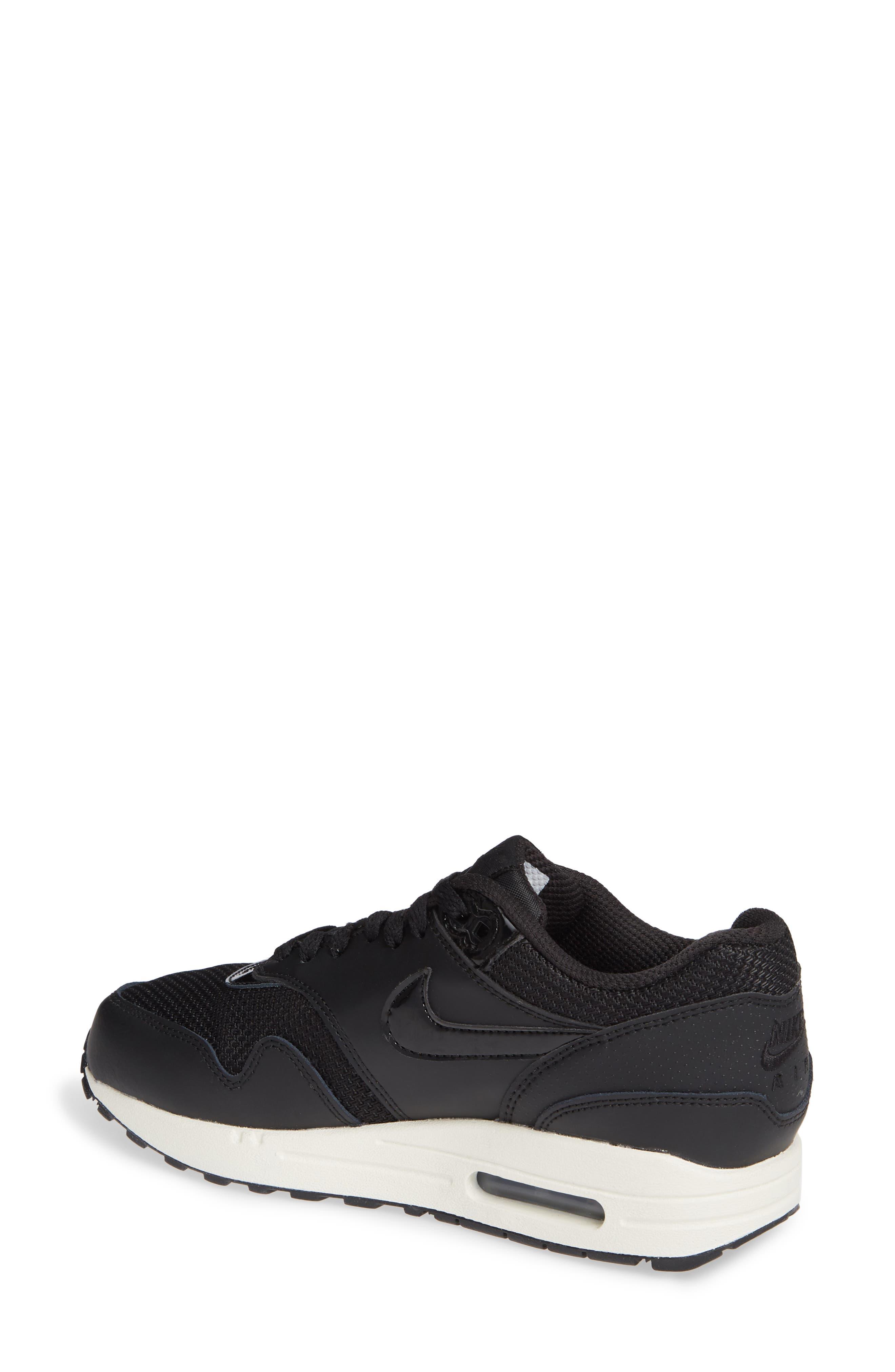 'Air Max 1 ND' Sneaker,                             Alternate thumbnail 2, color,                             BLACK/ BLACK-BLACK- WHITE