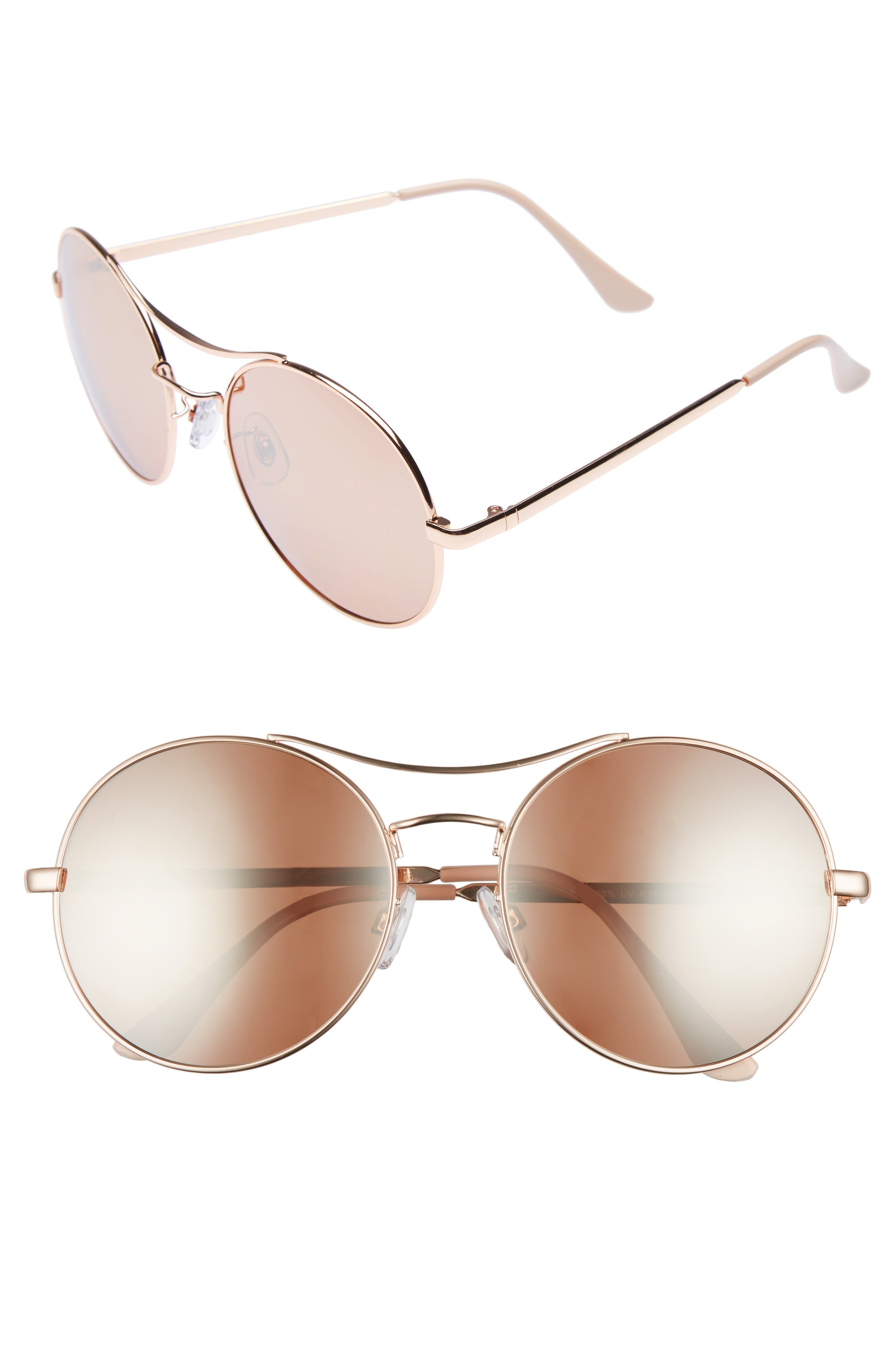 BP. 58mm Oversize Round Sunglasses, Main, color, 950