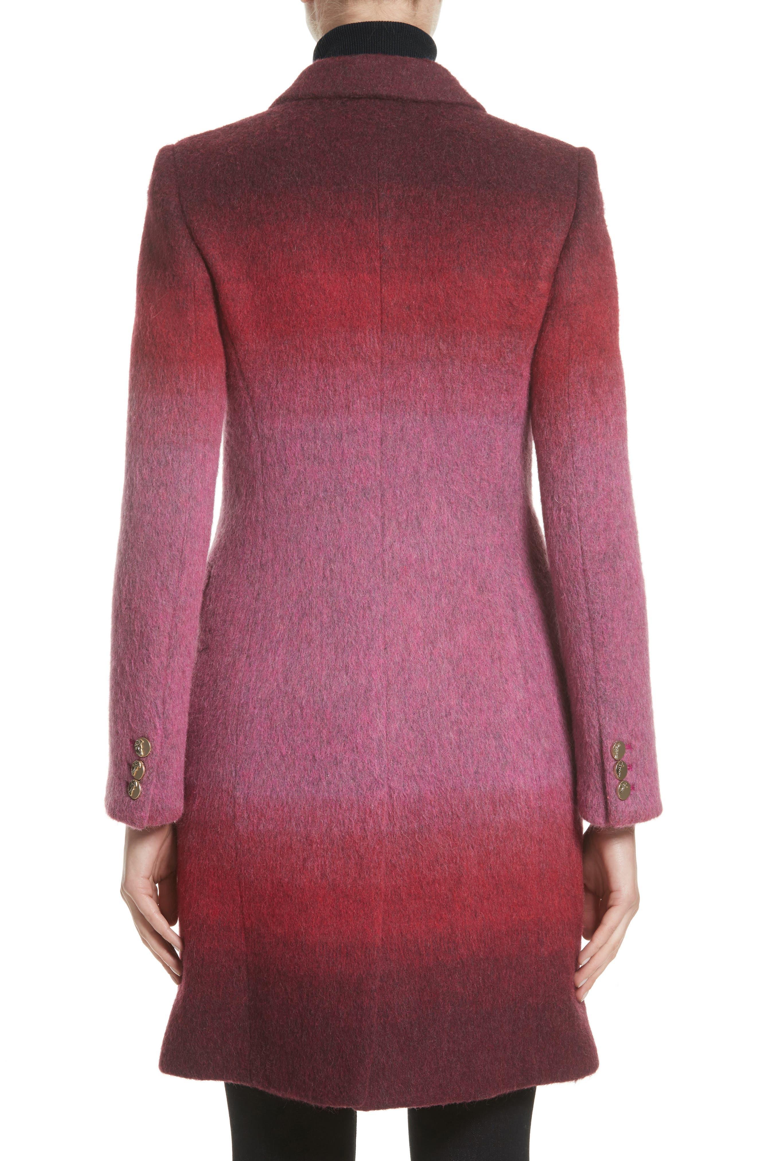 Collection Dégradé Wool Blend Coat,                             Alternate thumbnail 3, color,