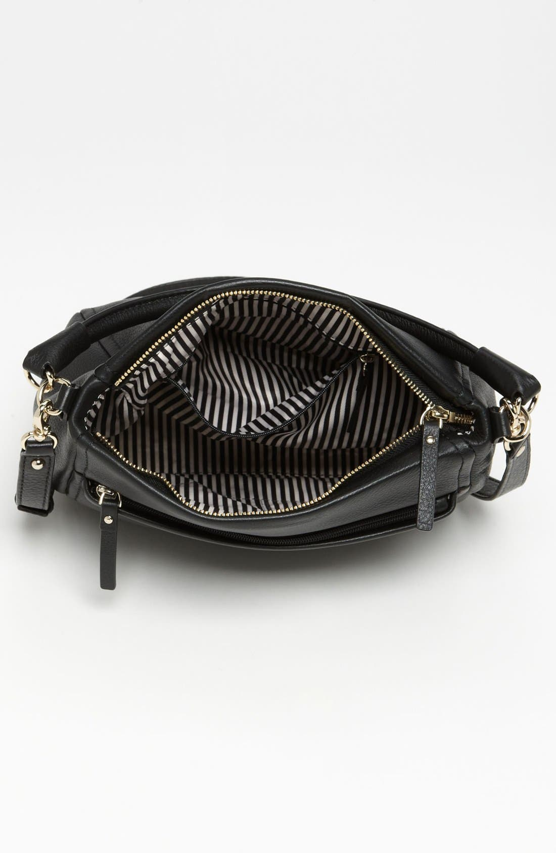 'cobble hill - little curtis' leather crossbody bag,                             Alternate thumbnail 2, color,                             001