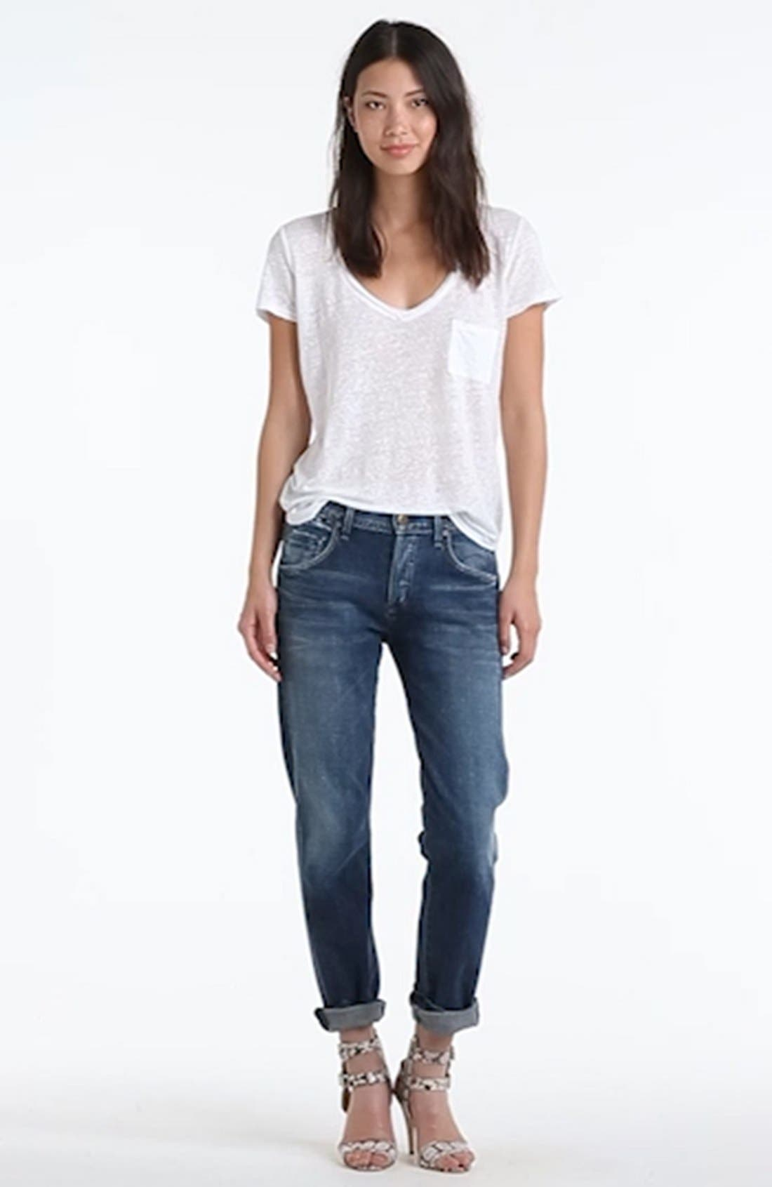 'Dylan' High Rise Loose Fit Jeans,                             Alternate thumbnail 2, color,                             479
