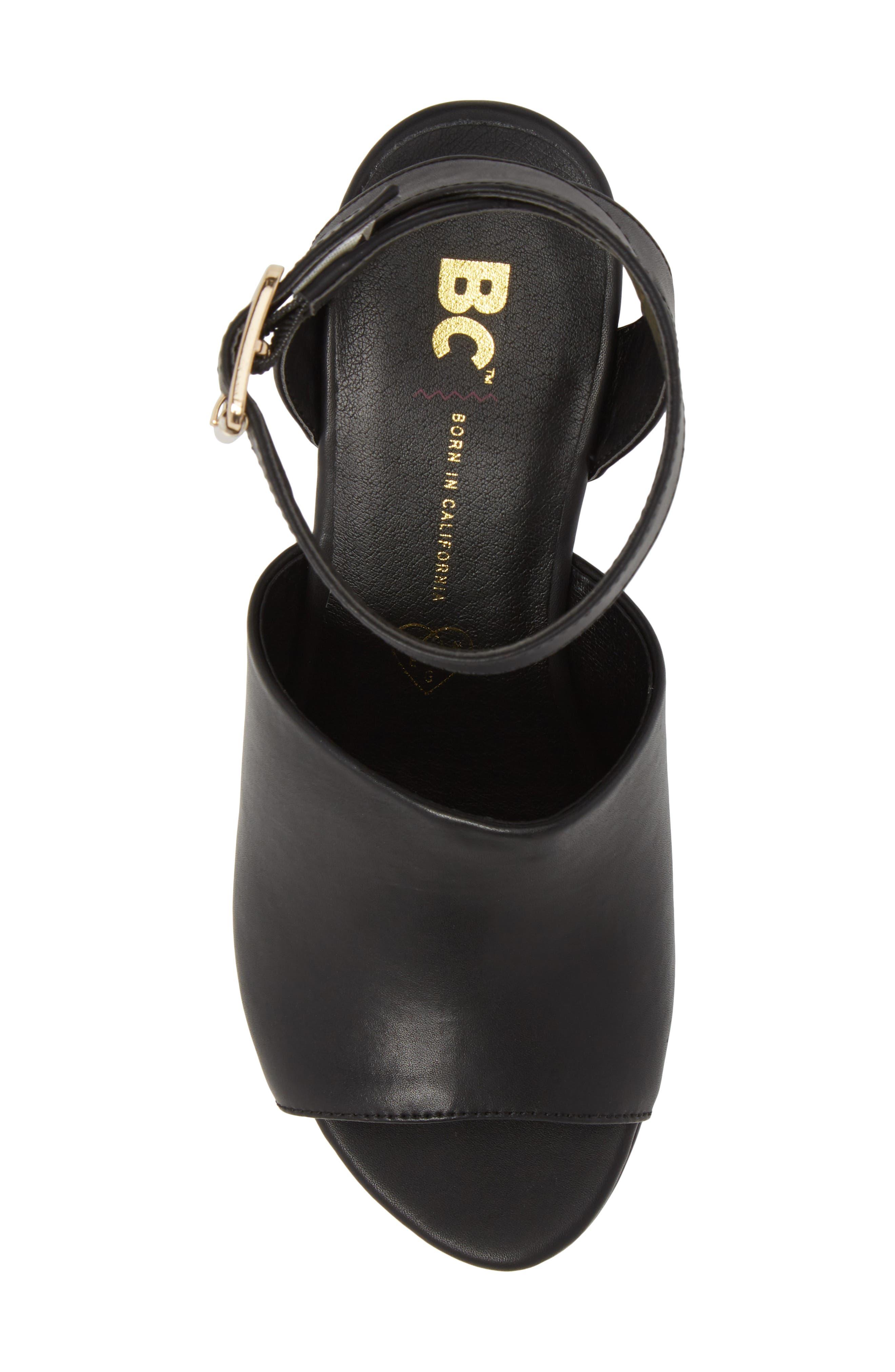 Admit One Platform Wedge Sandal,                             Alternate thumbnail 9, color,
