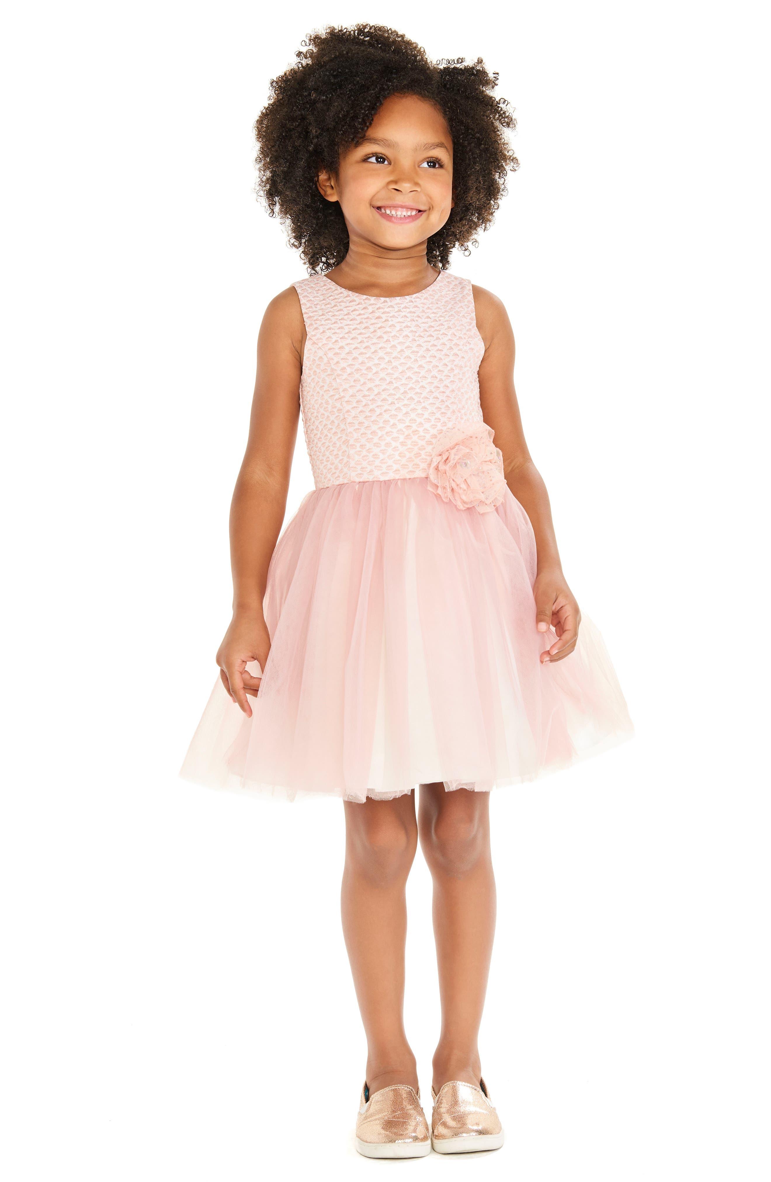 Brocade & Tulle Dress,                             Alternate thumbnail 5, color,                             650