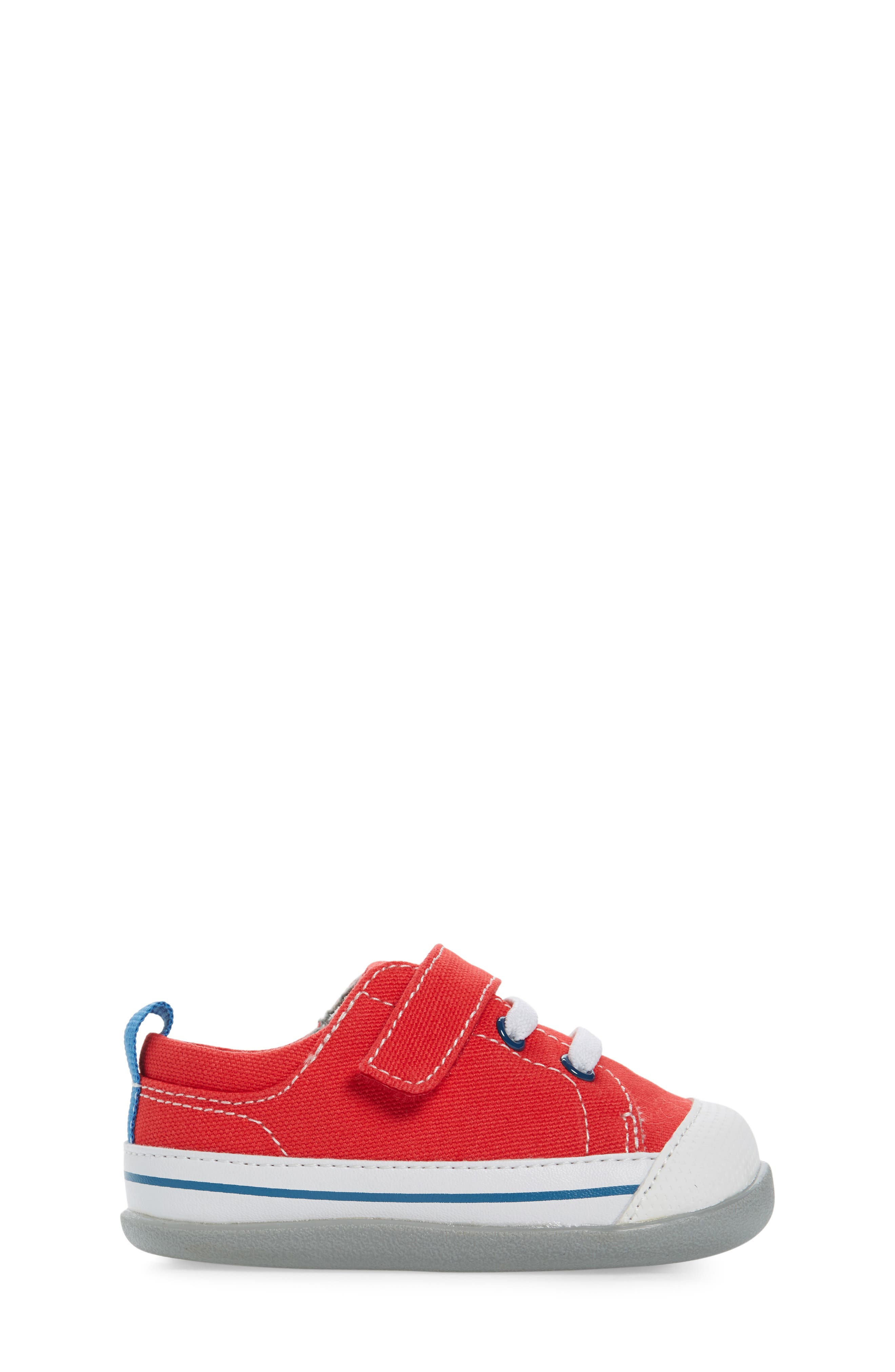 Stevie II Sneaker,                             Alternate thumbnail 3, color,                             RED CANVAS