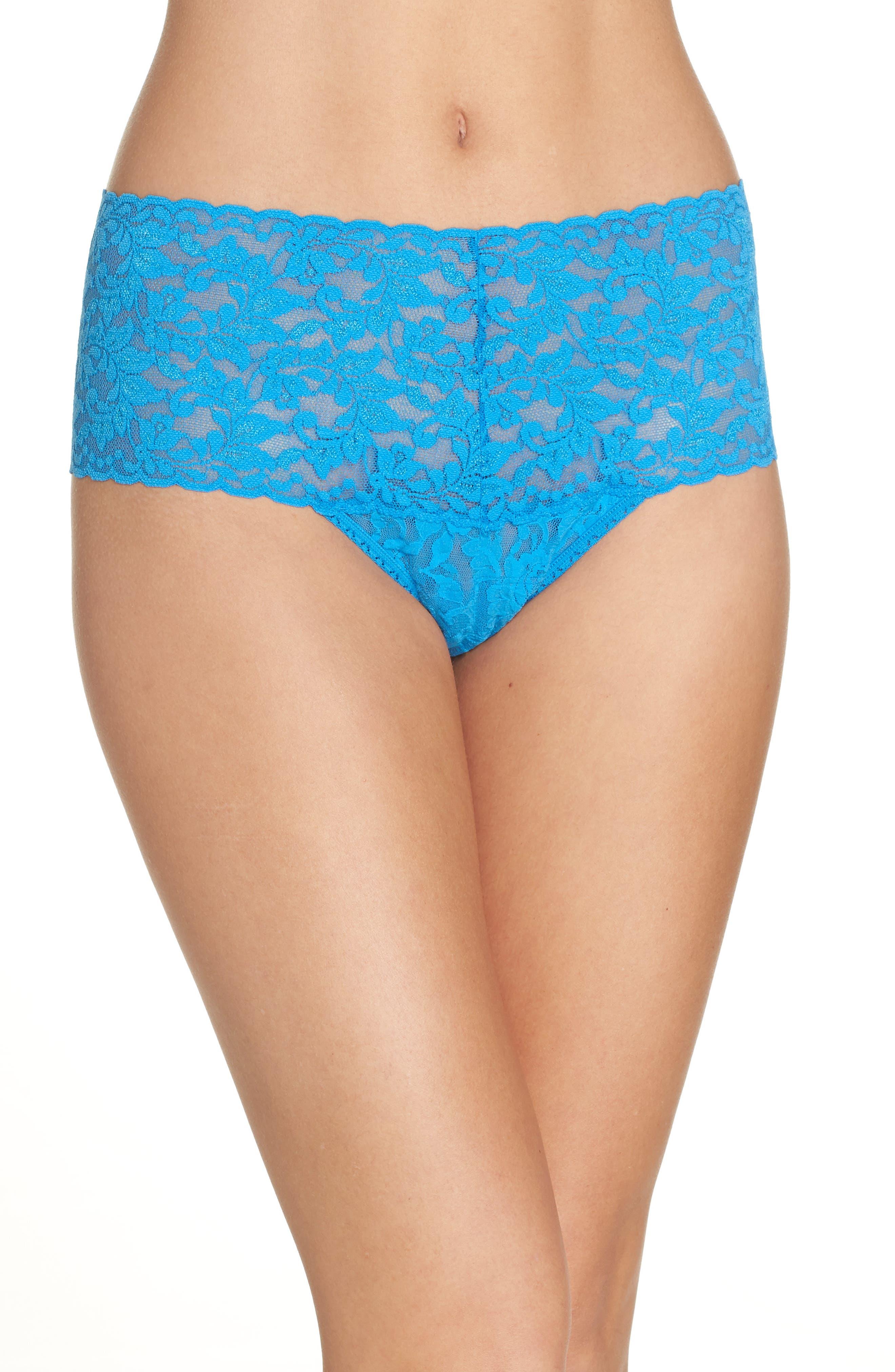 HANKY PANKY 'Retro' Thong, Main, color, LAGUNA BLUE