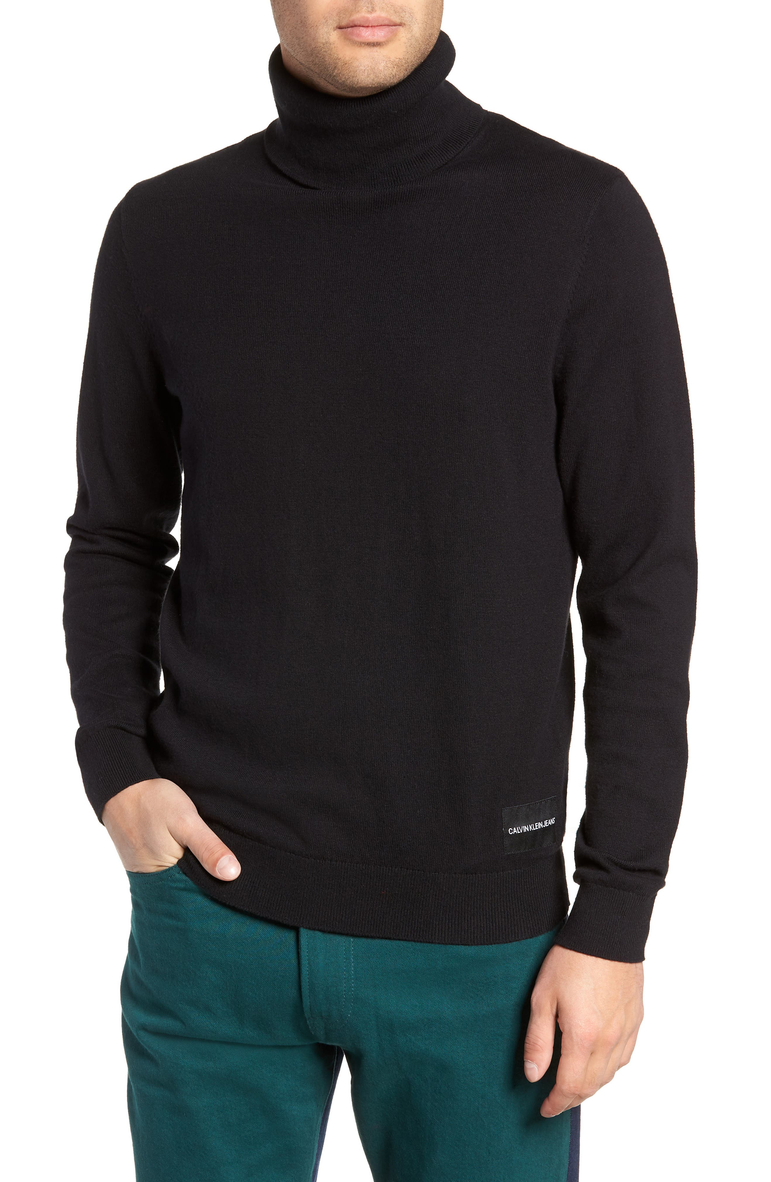 Turtleneck Sweater,                         Main,                         color, 001