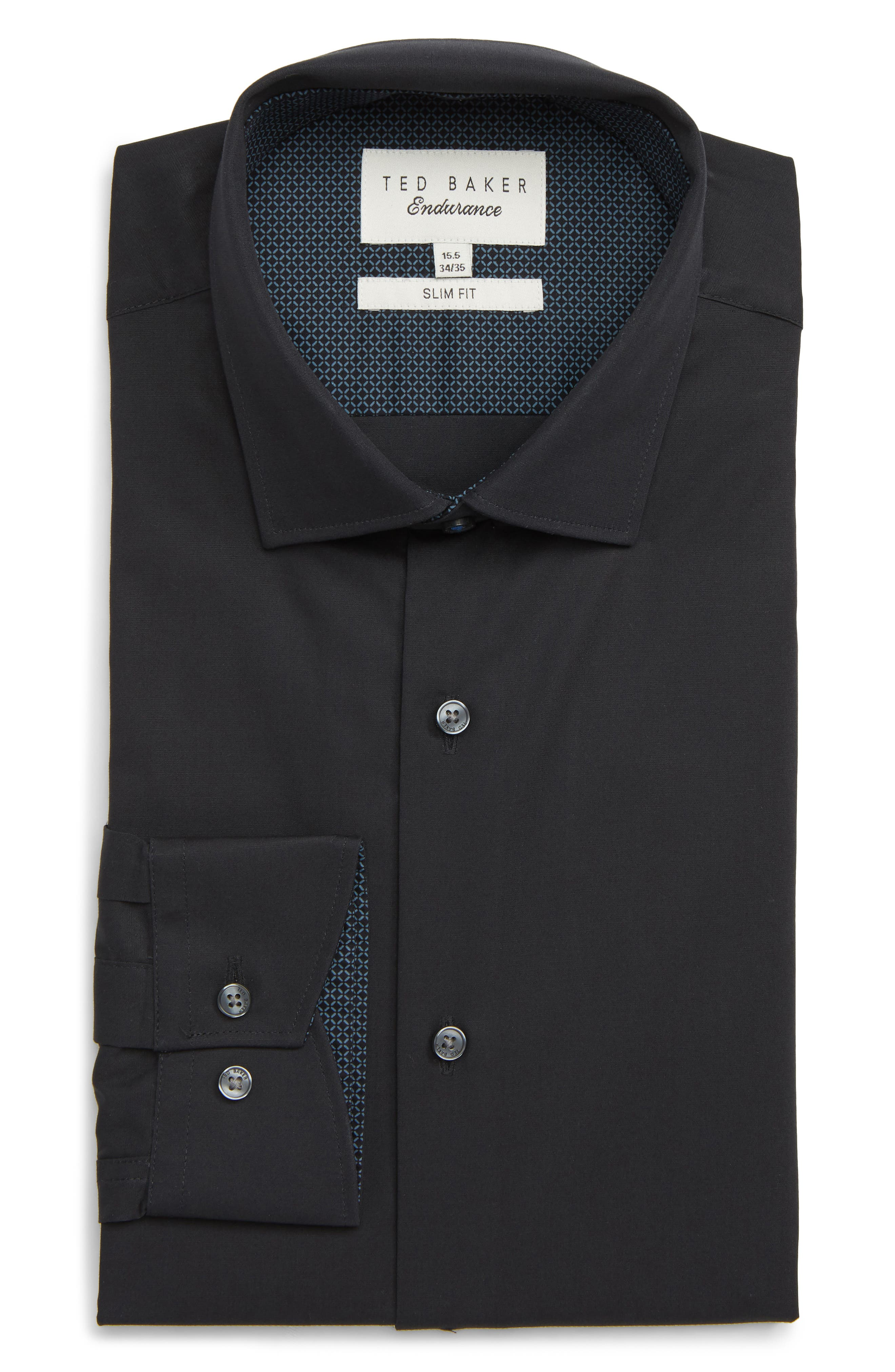 Endurance Bookers Slim Fit Solid Dress Shirt,                         Main,                         color,