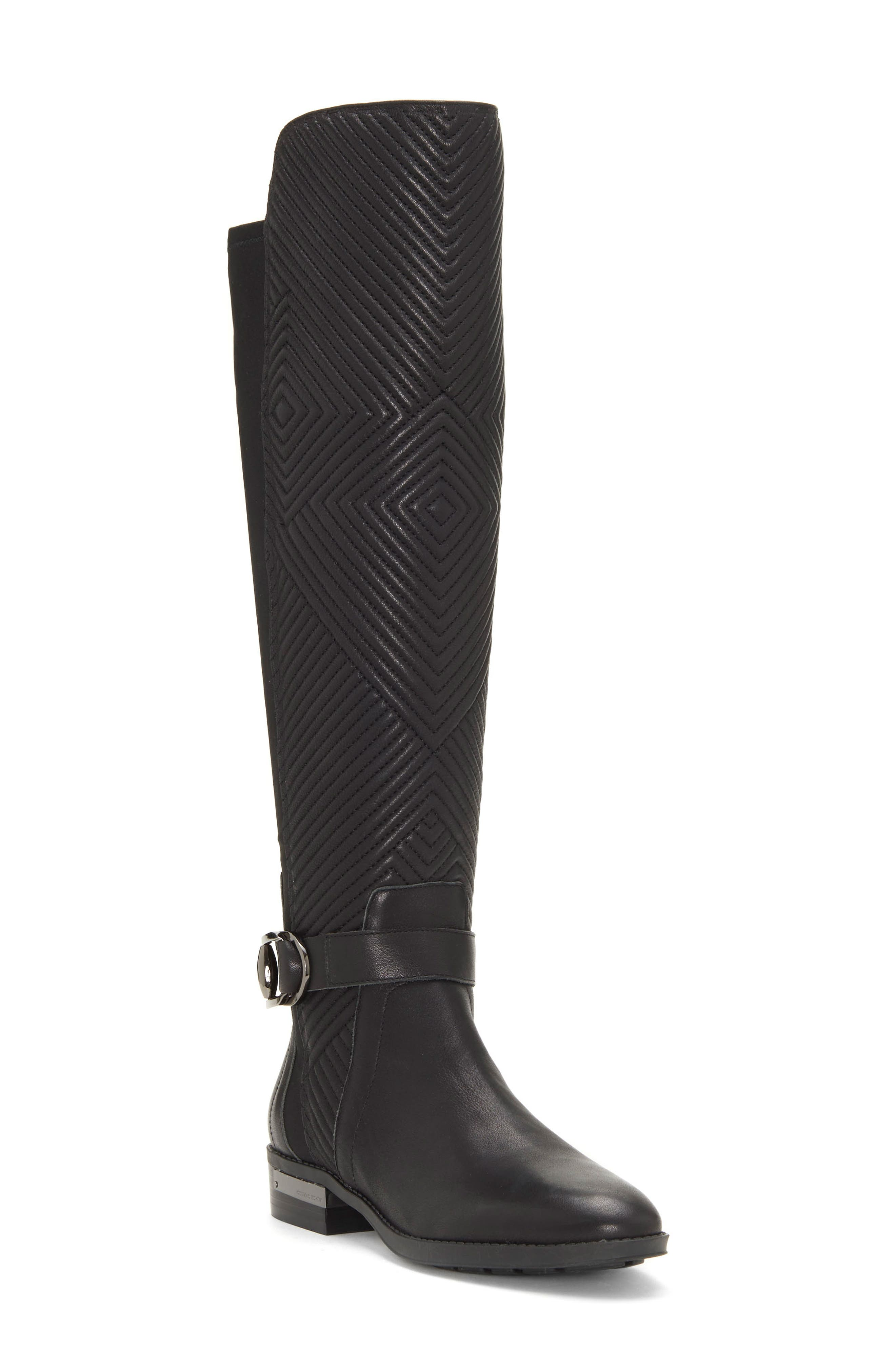 Pordalia Over-the-Knee Boot,                         Main,                         color, BLACK LEATHER