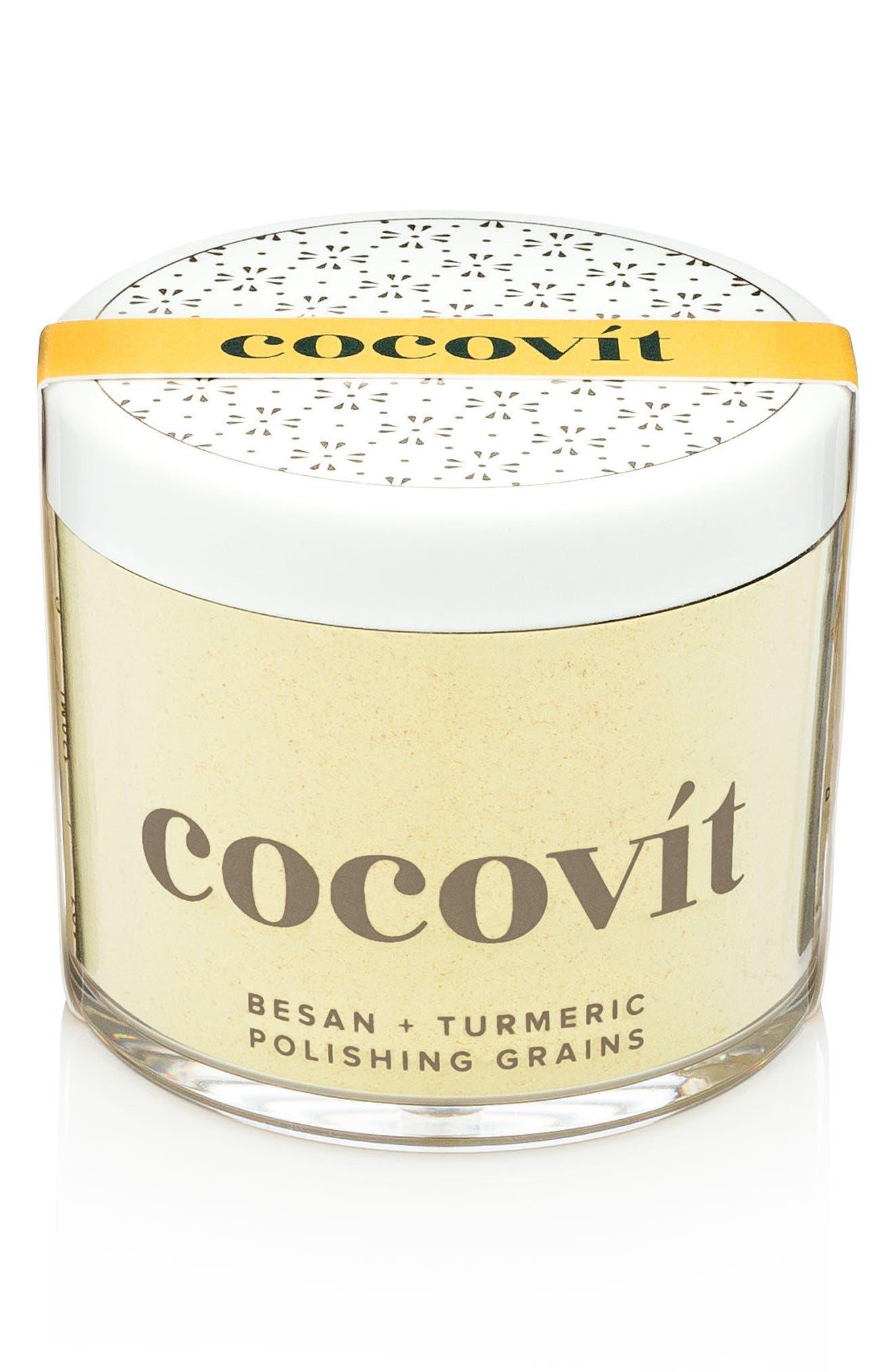COCOVIT,                             Besan + Turmeric Polishing Grains,                             Main thumbnail 1, color,                             000