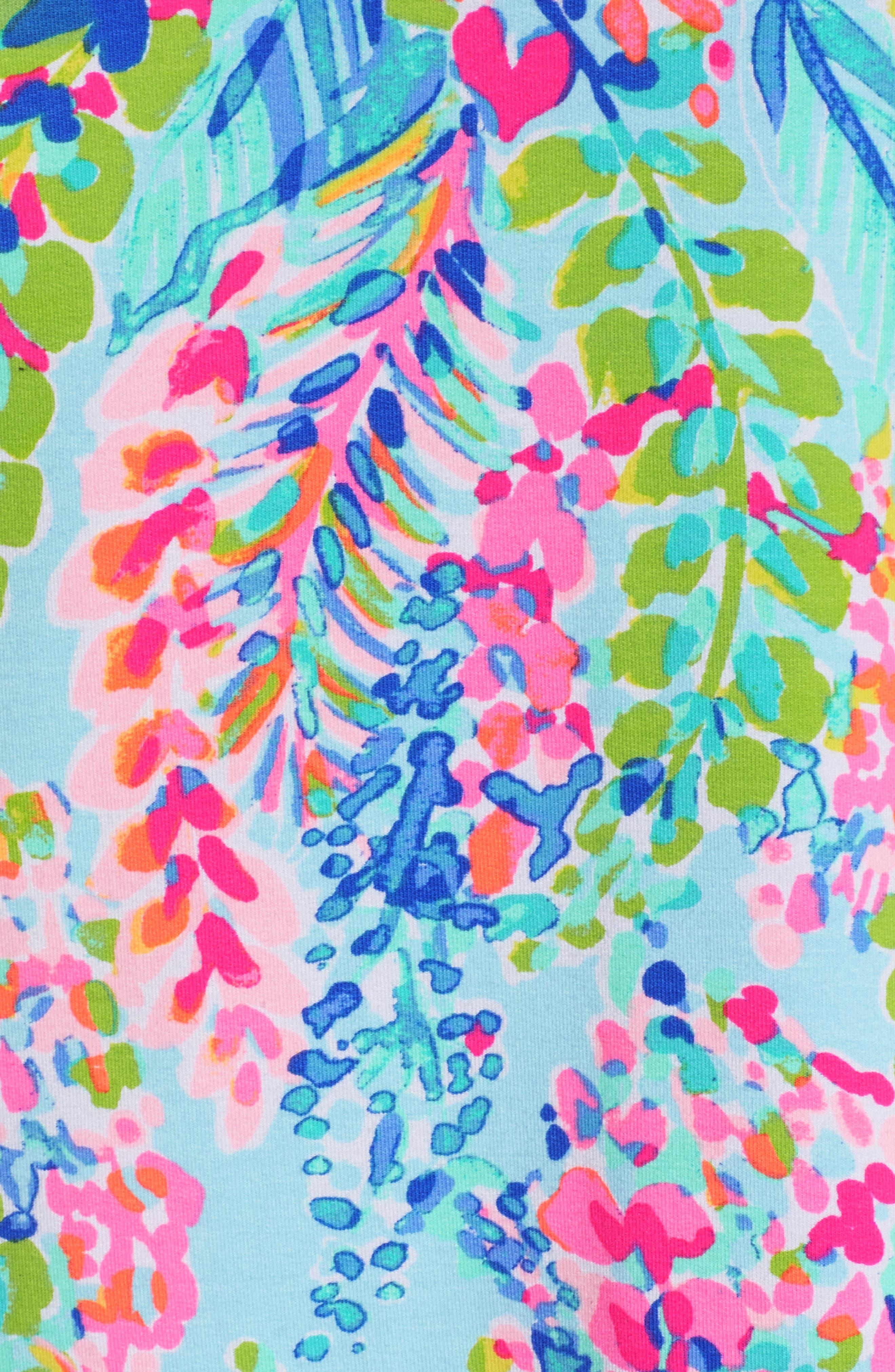 Tammy UPF 50+ Print Shift Dress,                             Alternate thumbnail 6, color,                             400
