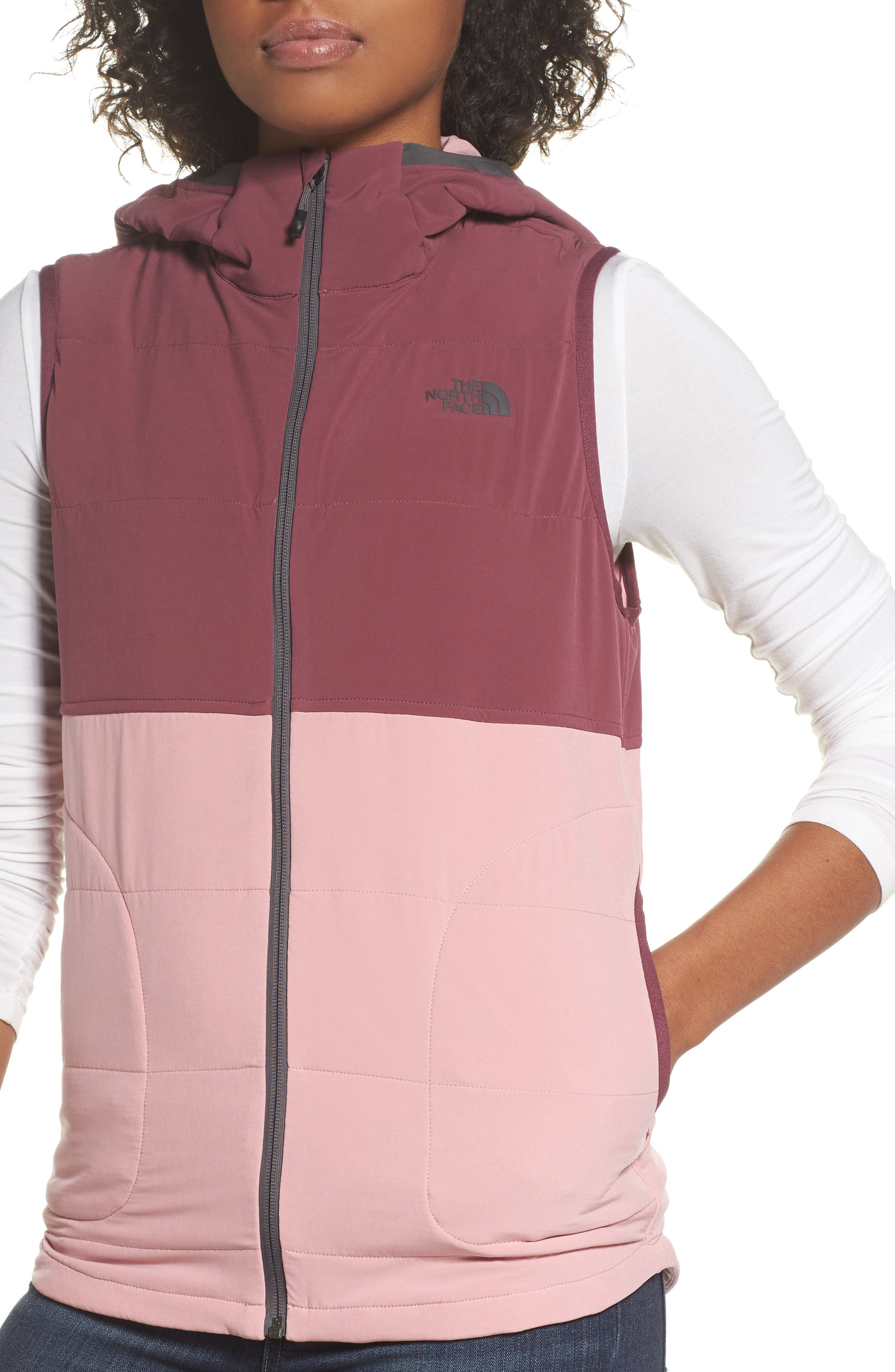 Mountain Sweatshirt Insulated Hooded Vest,                             Alternate thumbnail 16, color,