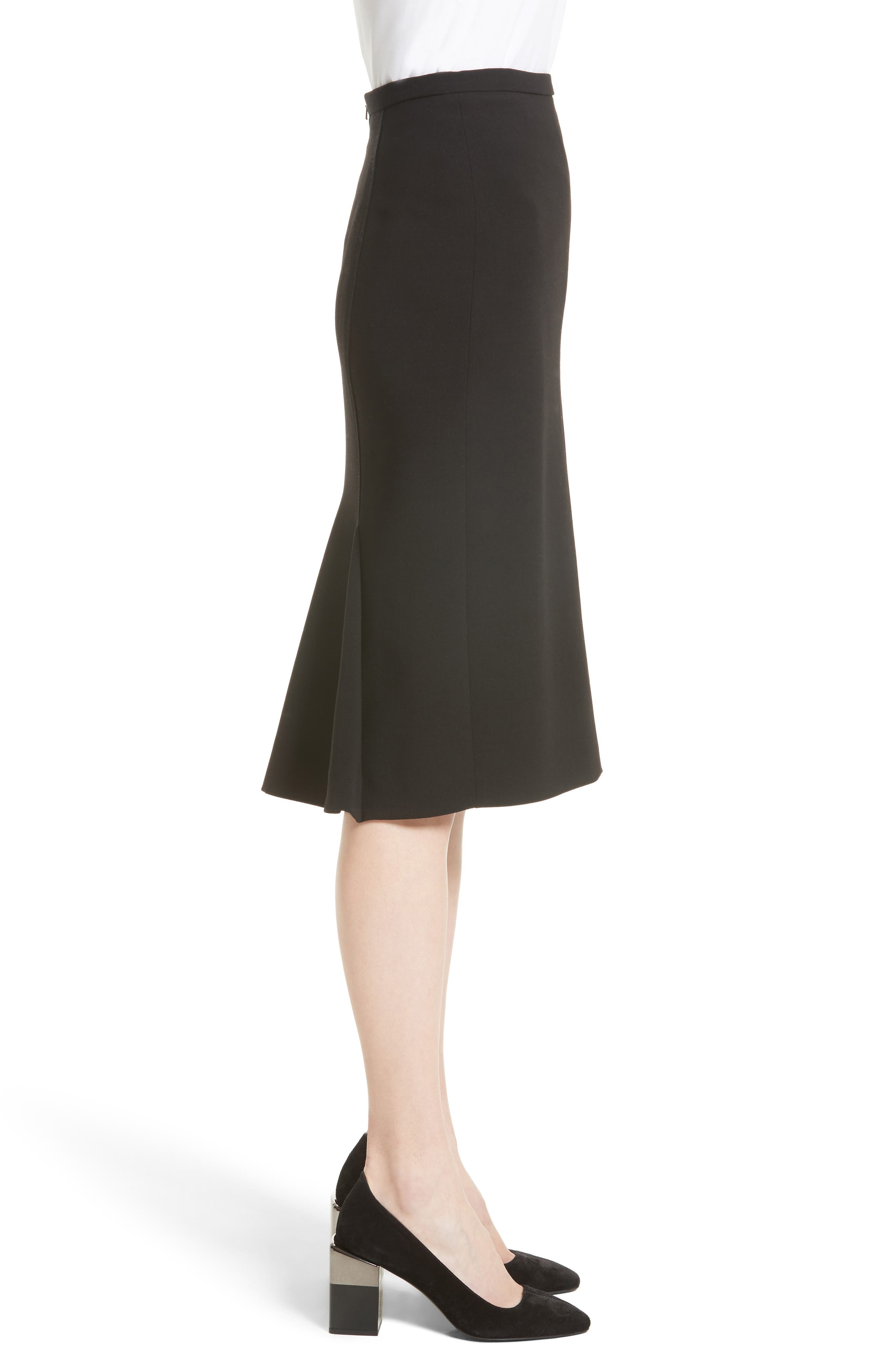 Bugia Stretch Wool Skirt,                             Alternate thumbnail 3, color,                             001