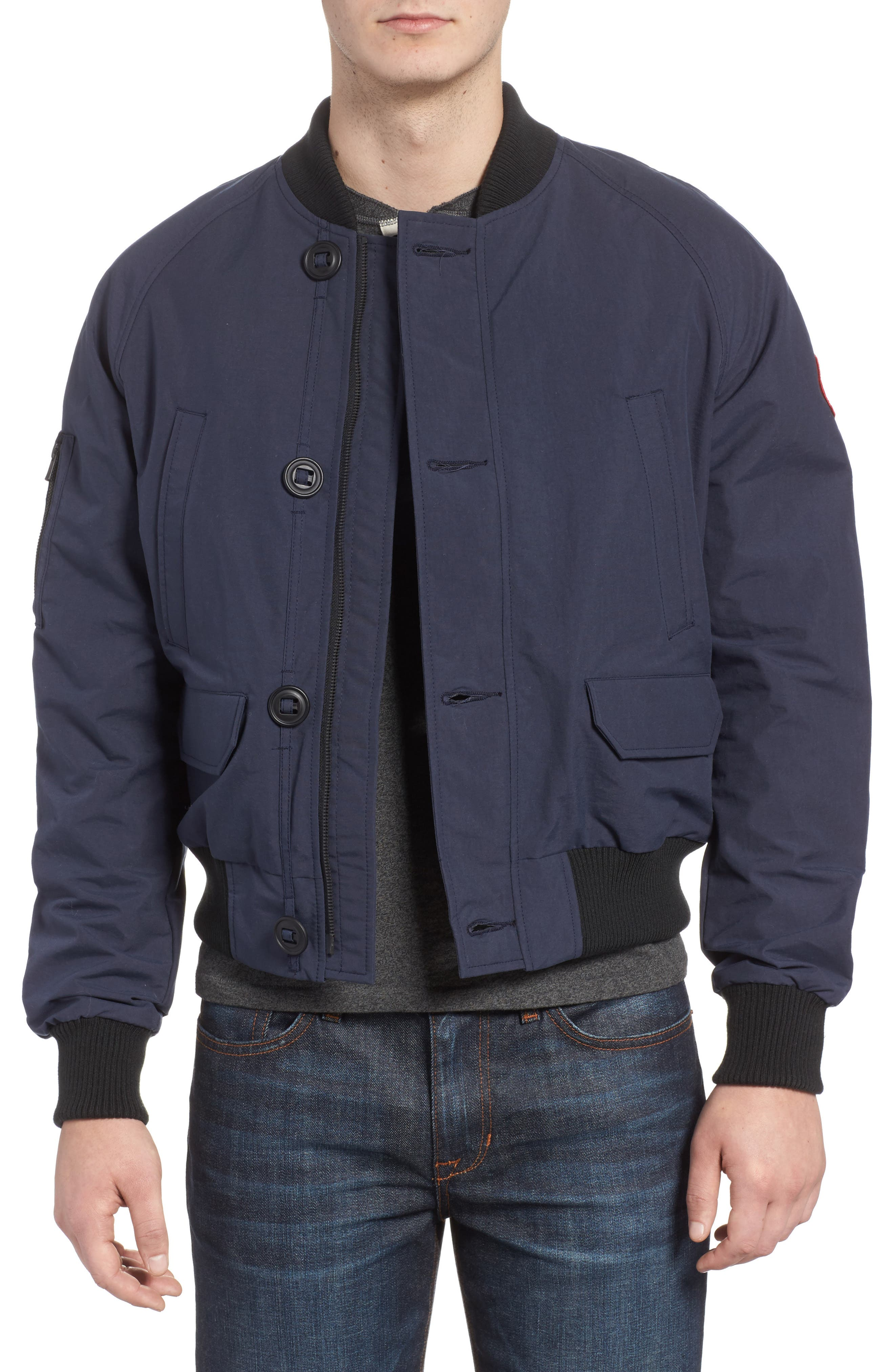 Faber Slim Fit Bomber Jacket,                             Main thumbnail 1, color,                             400