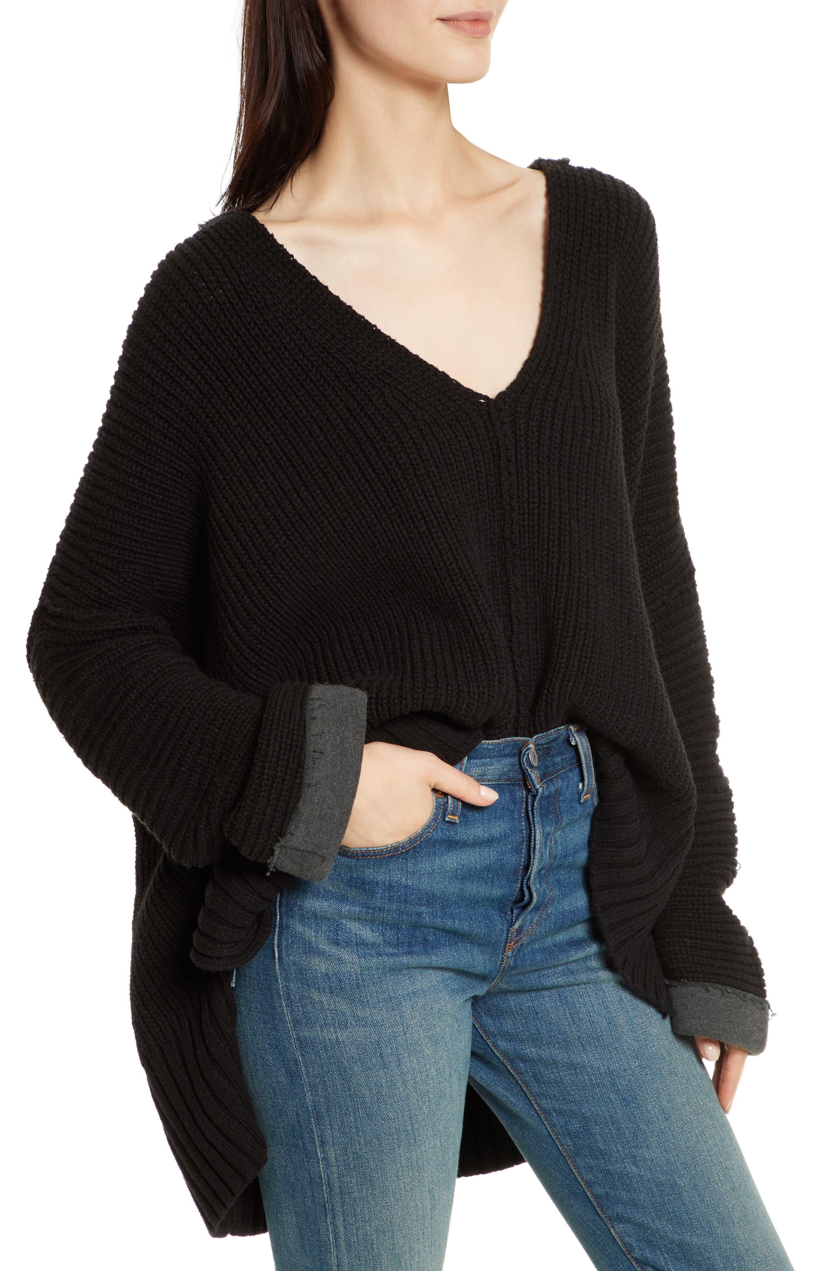 Take Over Me V-Neck Sweater,                             Main thumbnail 1, color,                             001