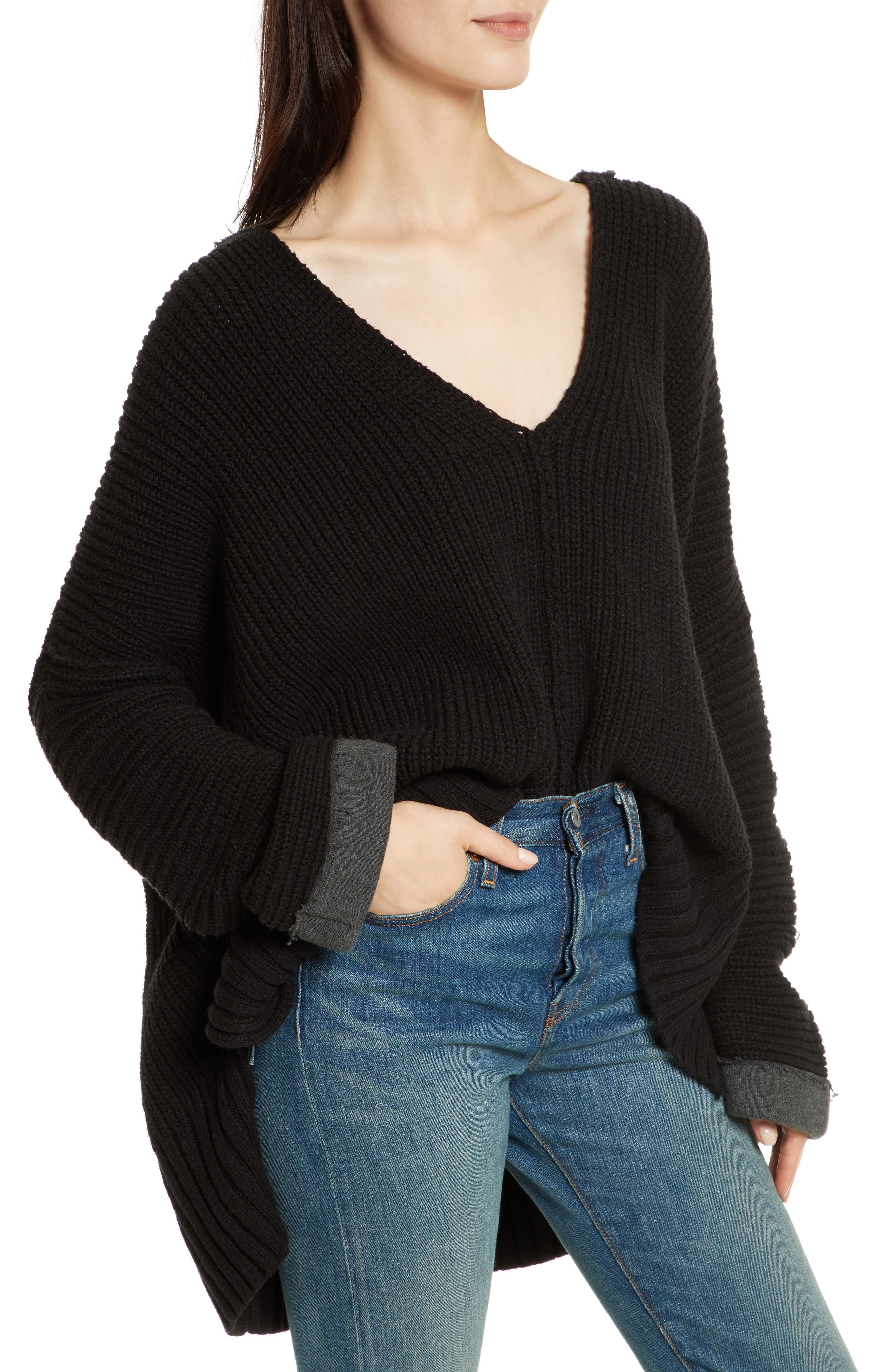Take Over Me V-Neck Sweater,                         Main,                         color, 001