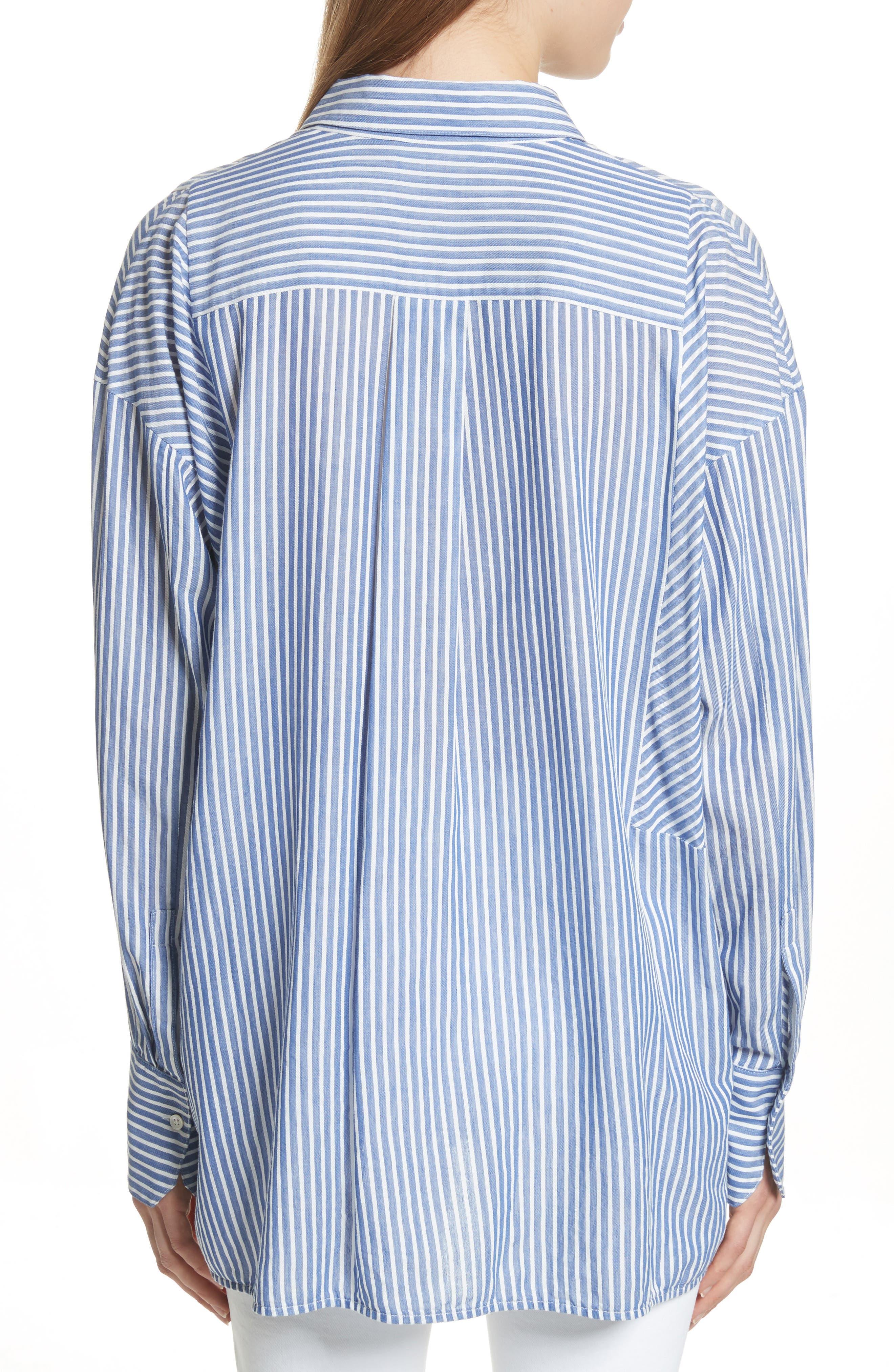 Classic Stripe Cotton Blend Tunic,                             Alternate thumbnail 2, color,                             460