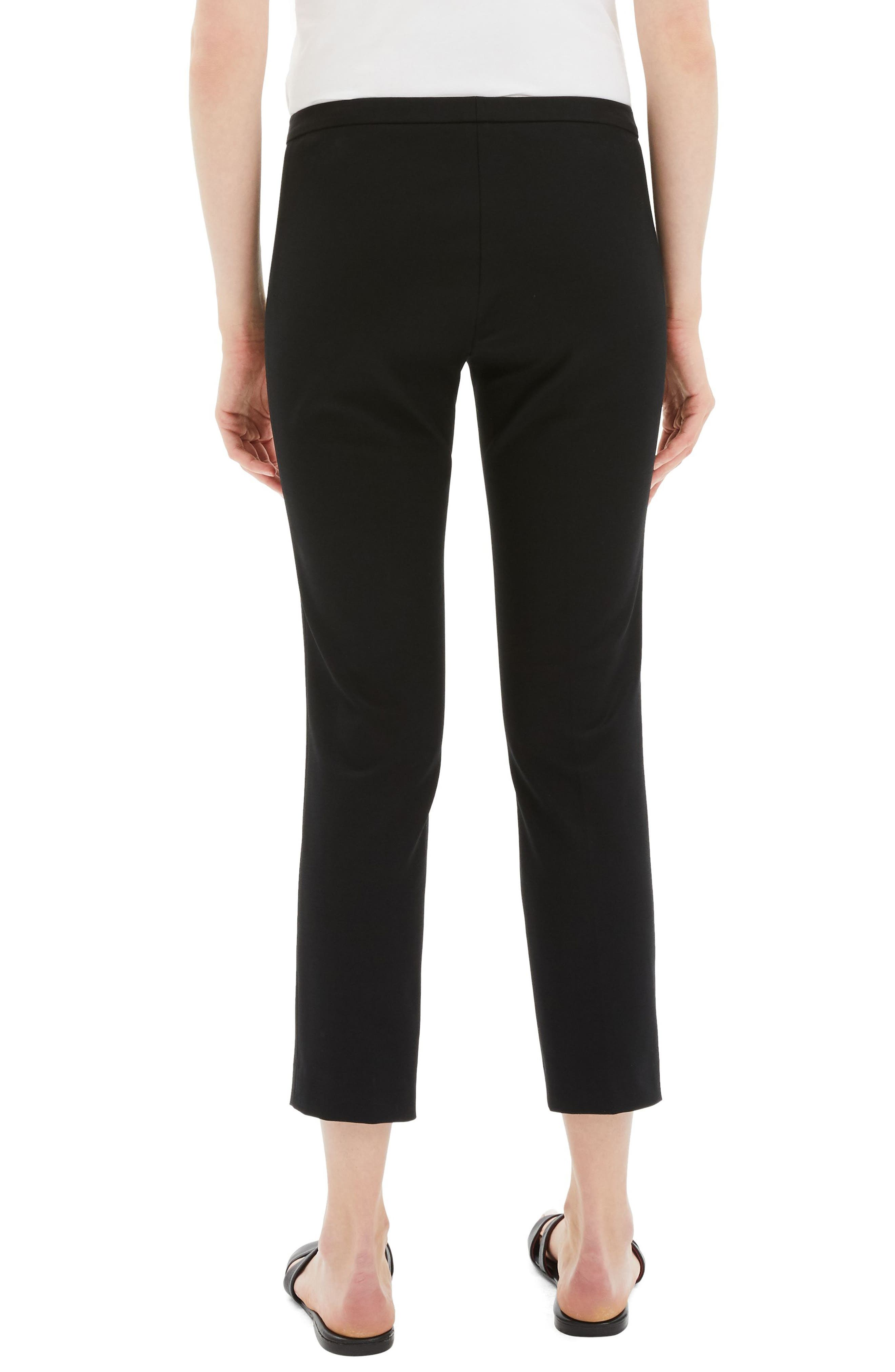 Classic Stretch Cotton Skinny Pants,                             Alternate thumbnail 2, color,                             BLACK